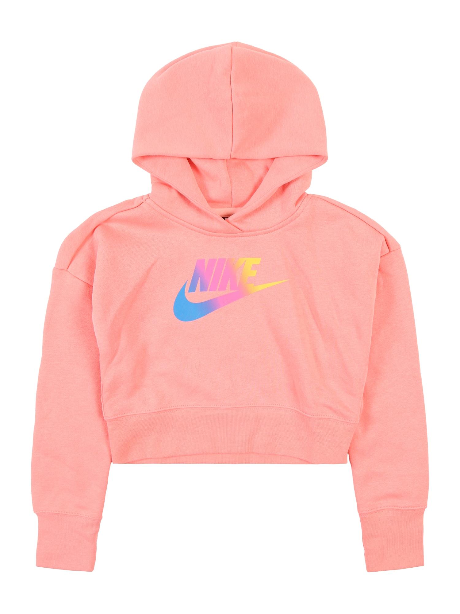 Mikina G NSW FF CROP pink Nike Sportswear
