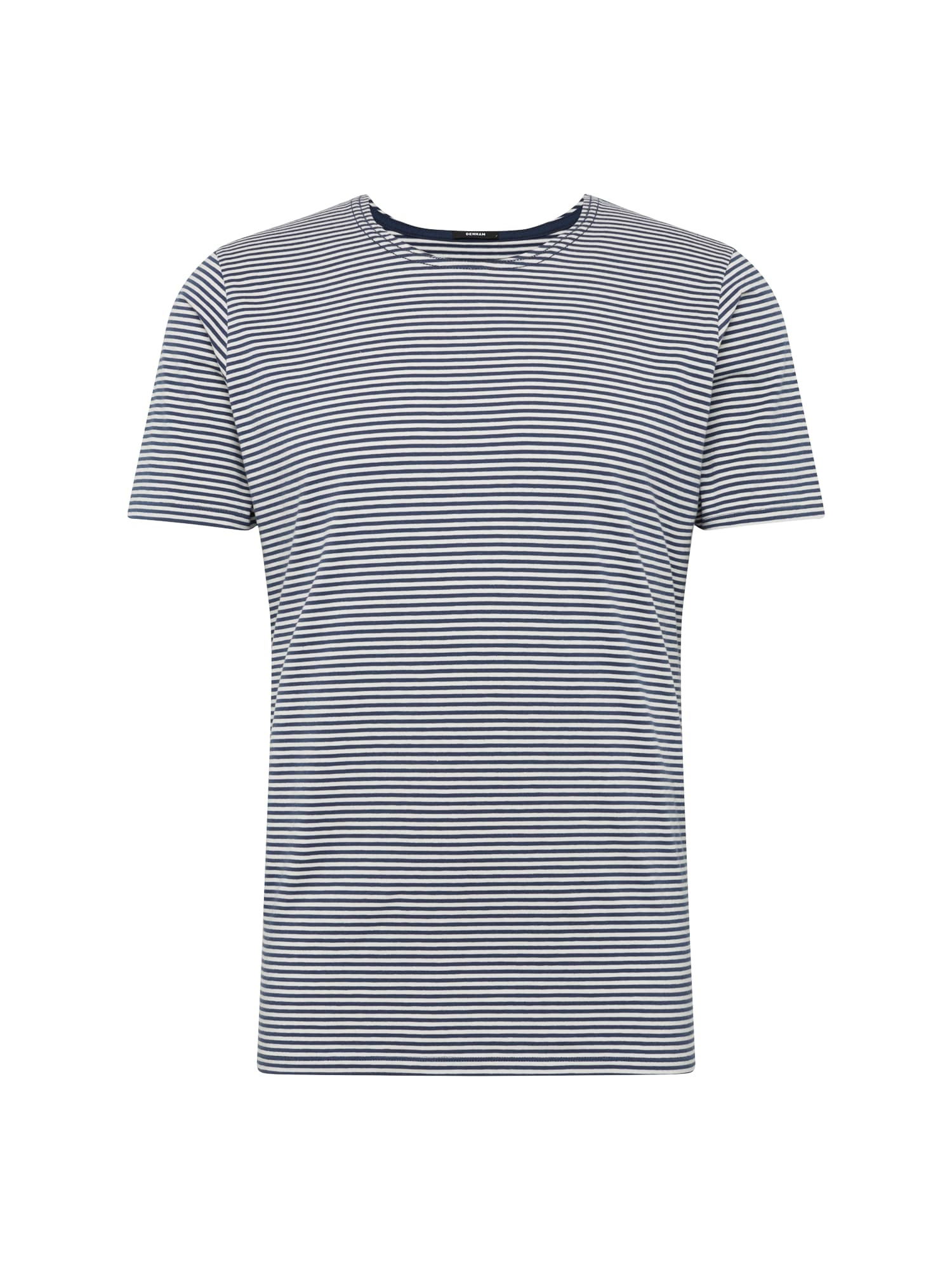 Tričko RUFF NECK CREW TEE J námořnická modř bílá DENHAM