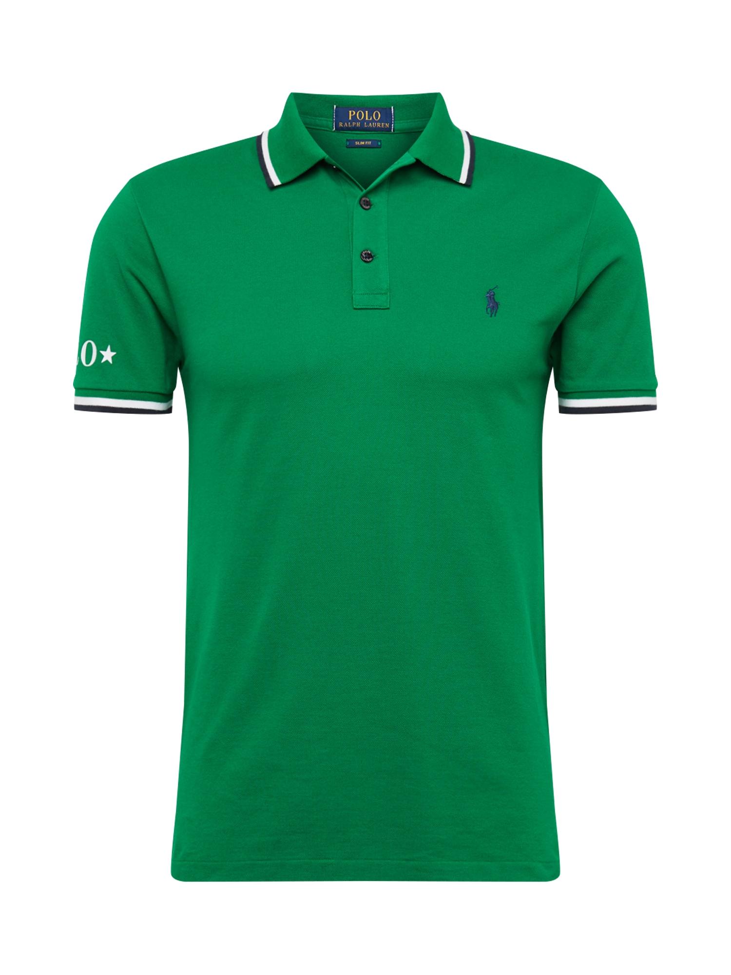 Tričko tmavě zelená černá bílá POLO RALPH LAUREN