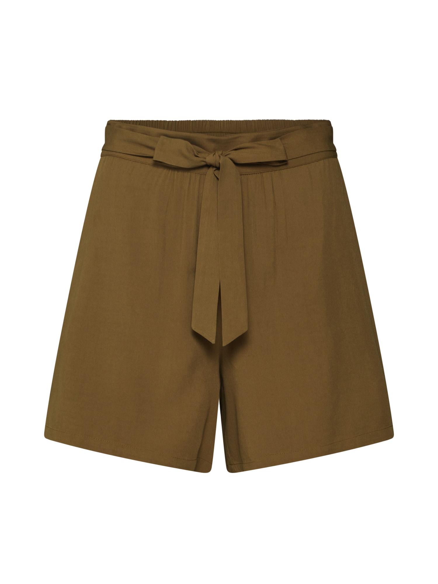 Kalhoty VIAMONA SHORTS olivová VILA