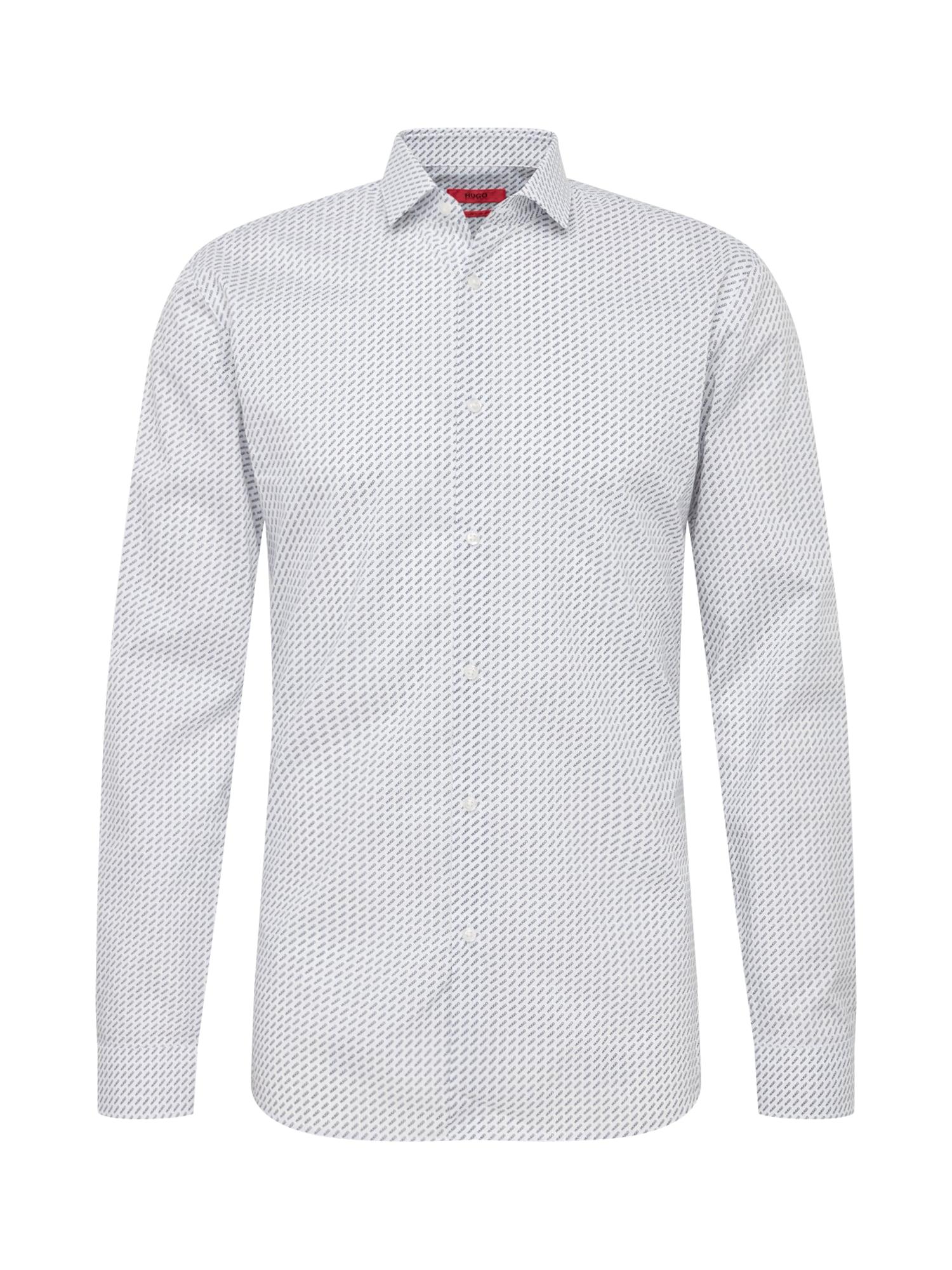 Košile Erondo černá bílá HUGO