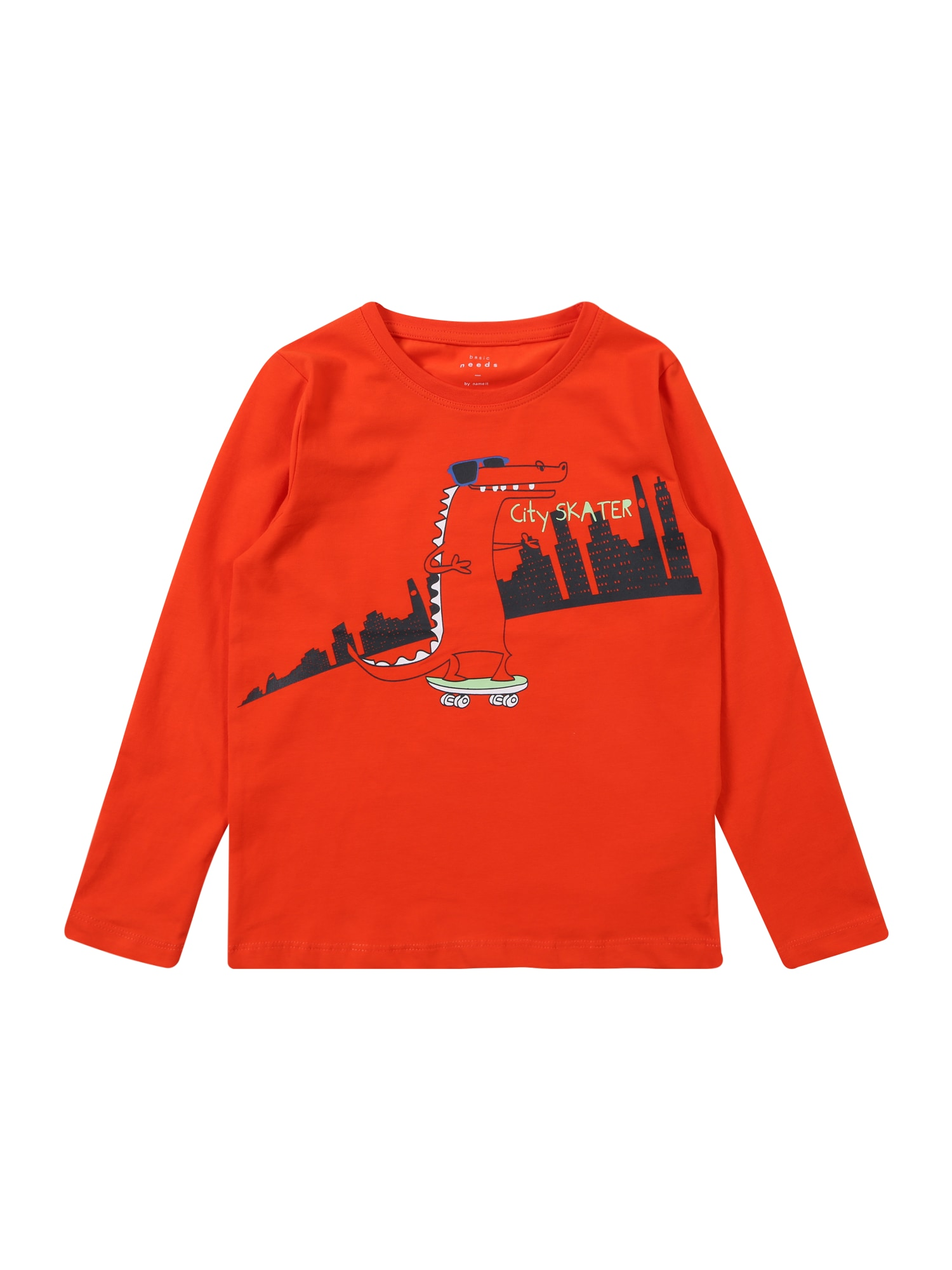 Tričko VUX LS TOP T červená černá bílá NAME IT