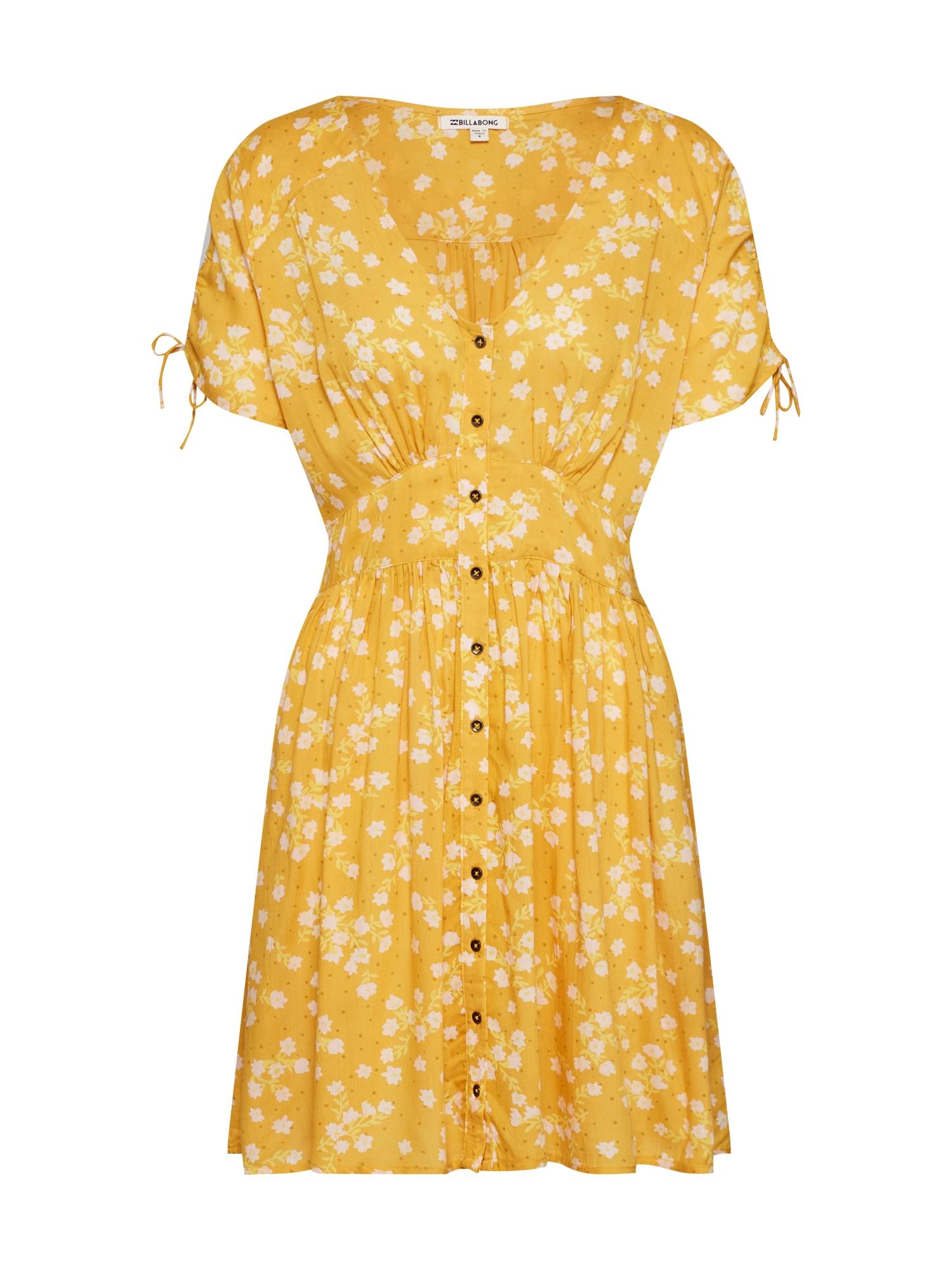 Letní šaty TWIRL TWIST žlutá bílá BILLABONG