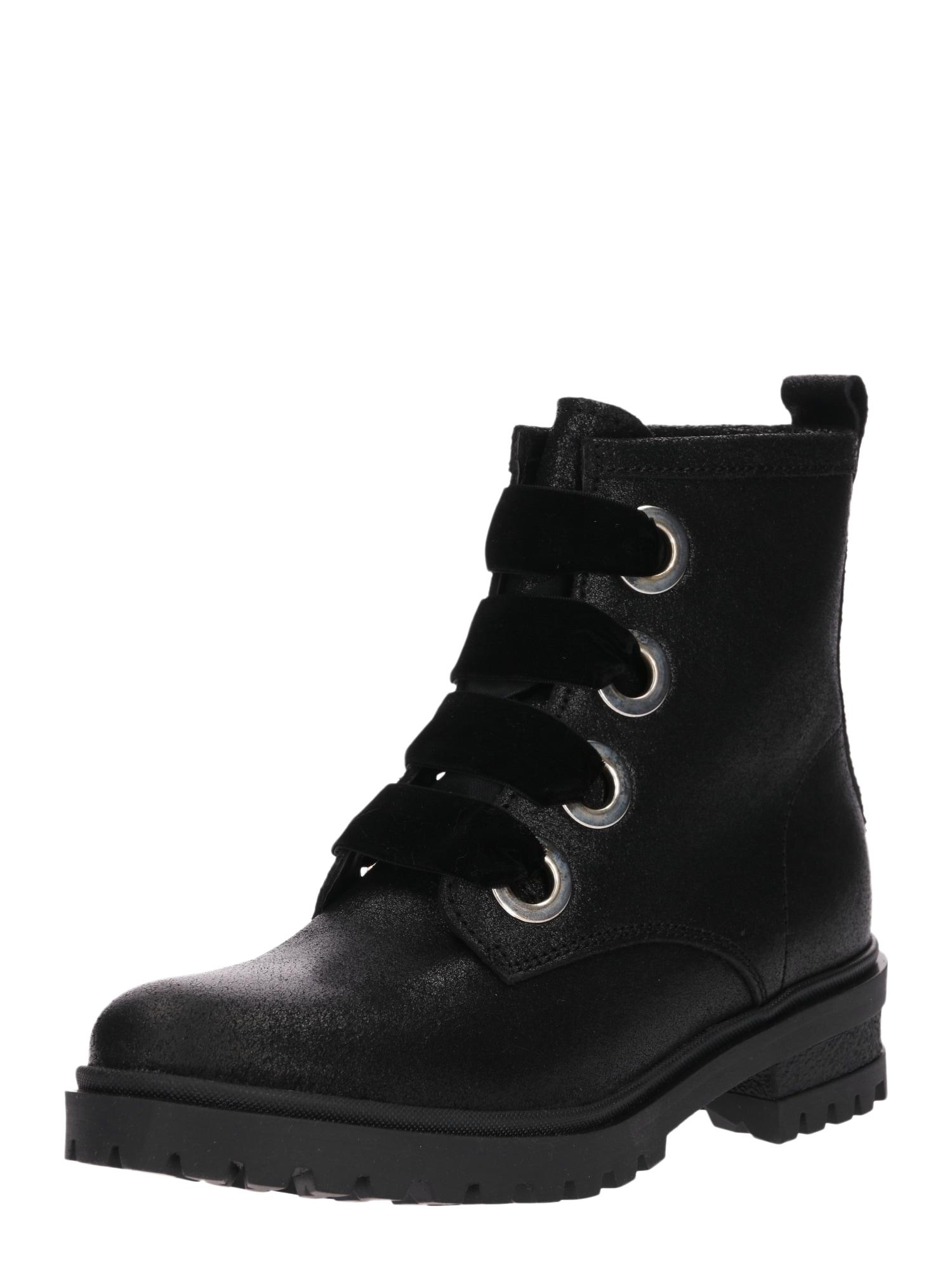 Šněrovací boty černá Tommy Jeans