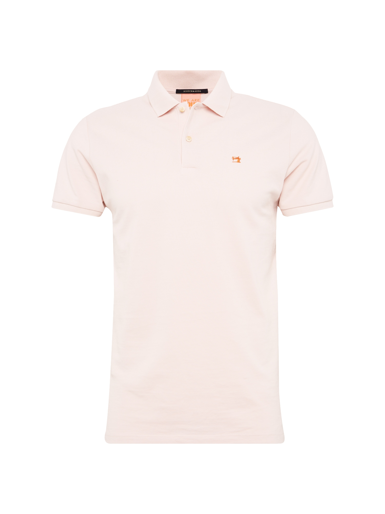 SCOTCH  and  SODA Heren Shirt Classic clean pique polo rosa