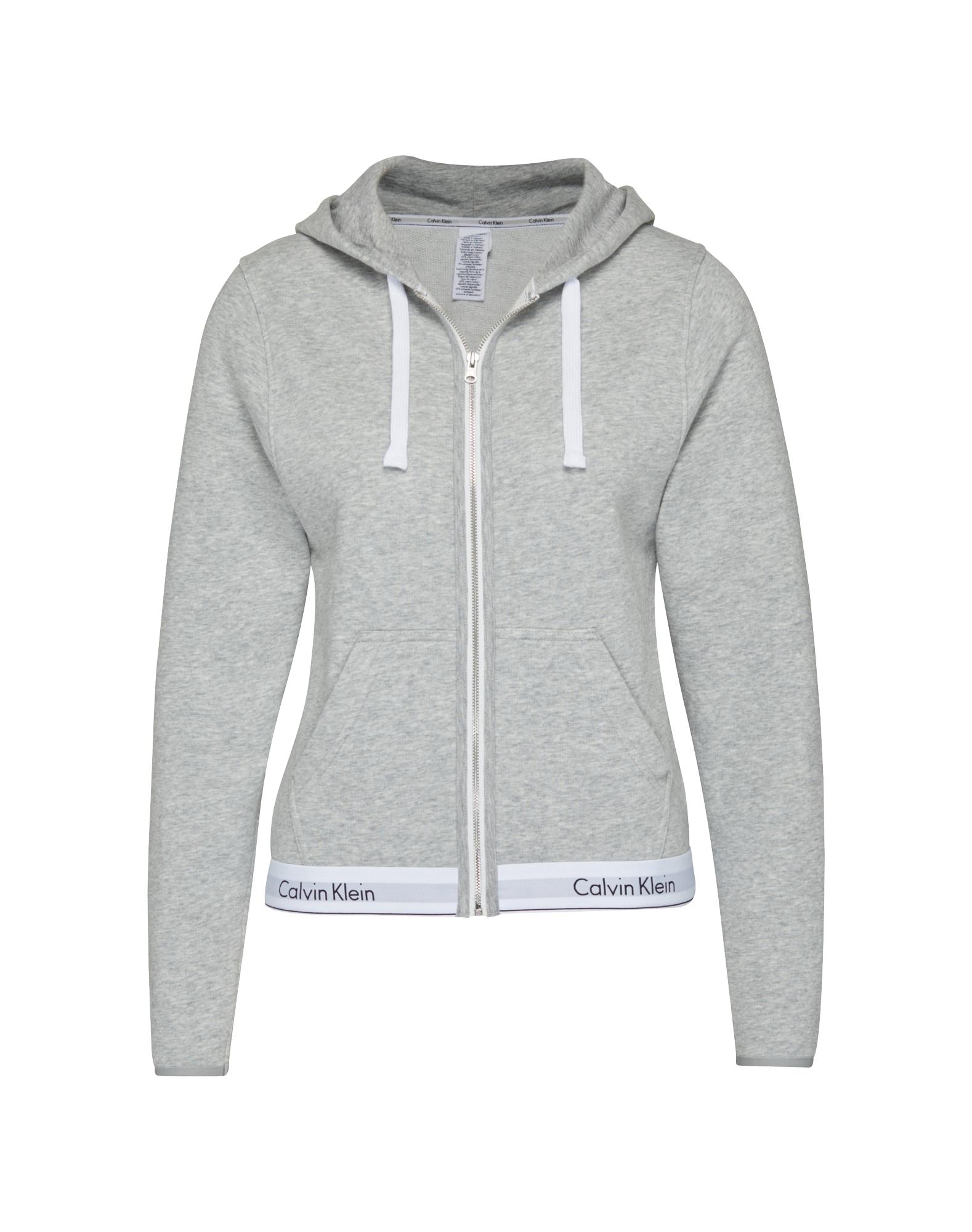 Mikina s kapucí šedý melír Calvin Klein Underwear
