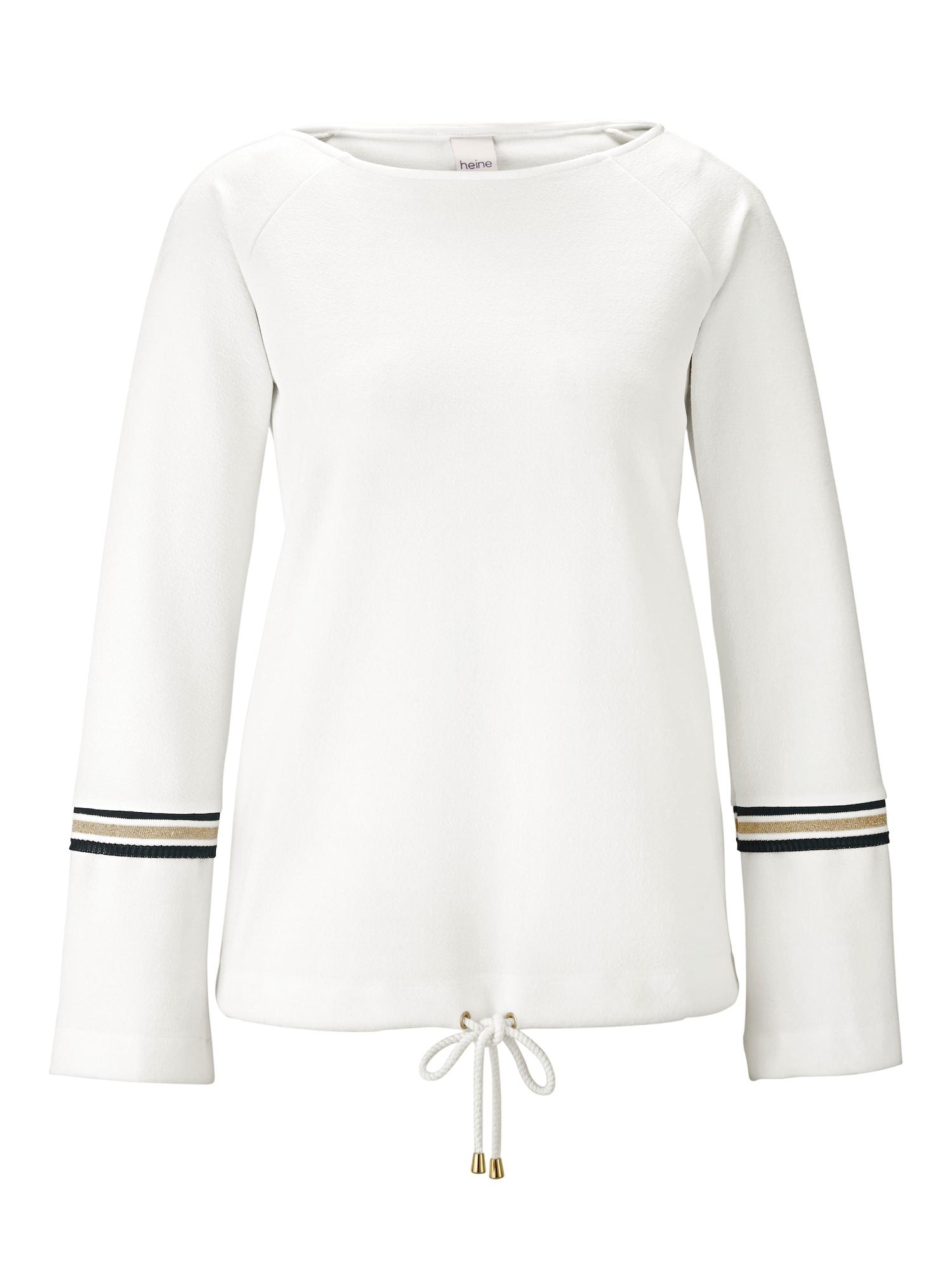 Tričko Rundhalsshirt bílá Heine