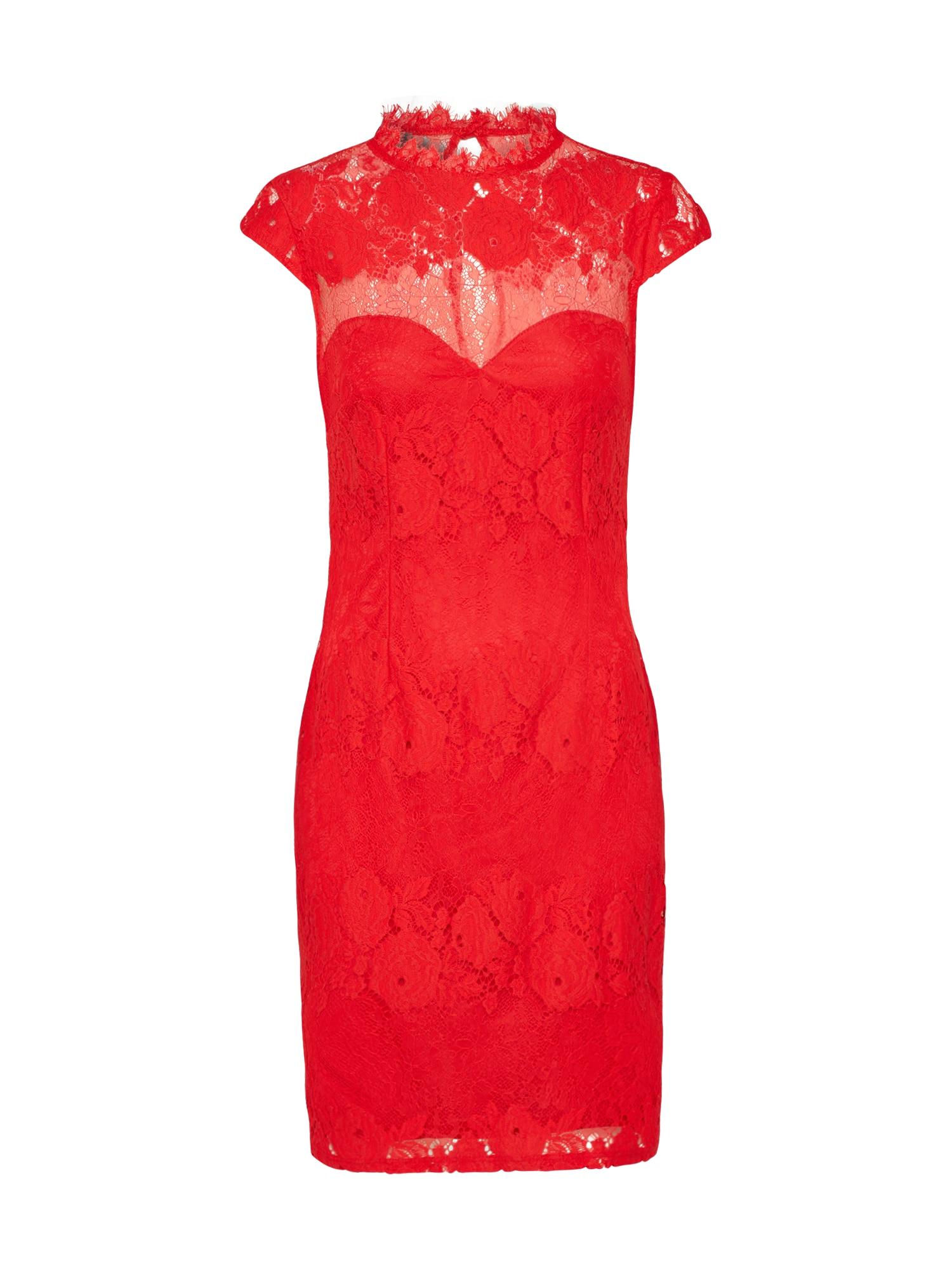Koktejlové šaty WX RED LACE červená Lipsy