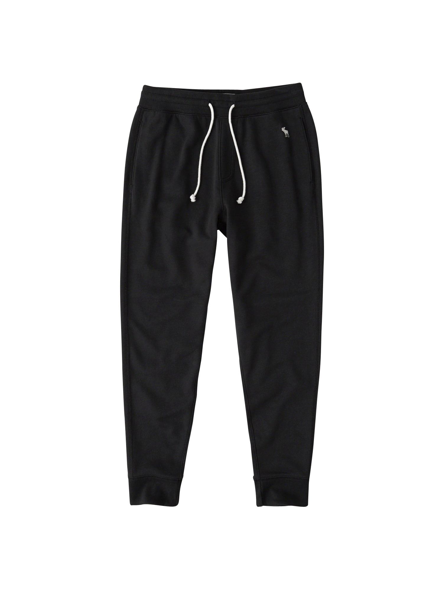 Kalhoty ESSENTIAL JOGGER GLOBAL DTC 4CC černá Abercrombie & Fitch