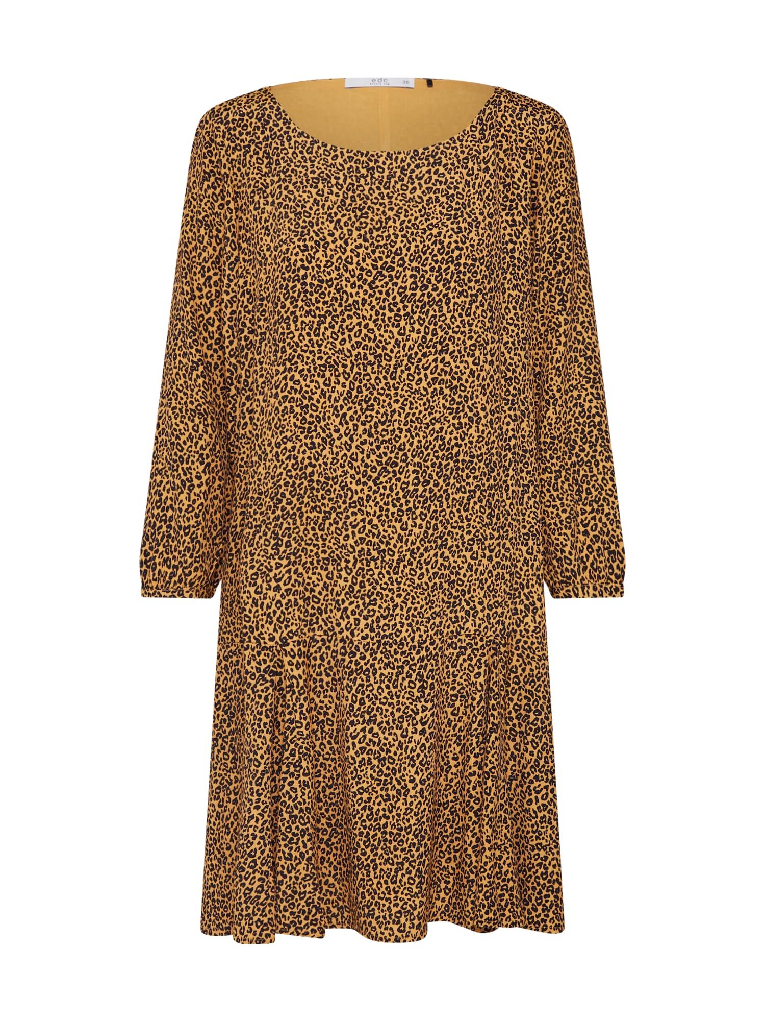 Šaty žlutá černá EDC BY ESPRIT