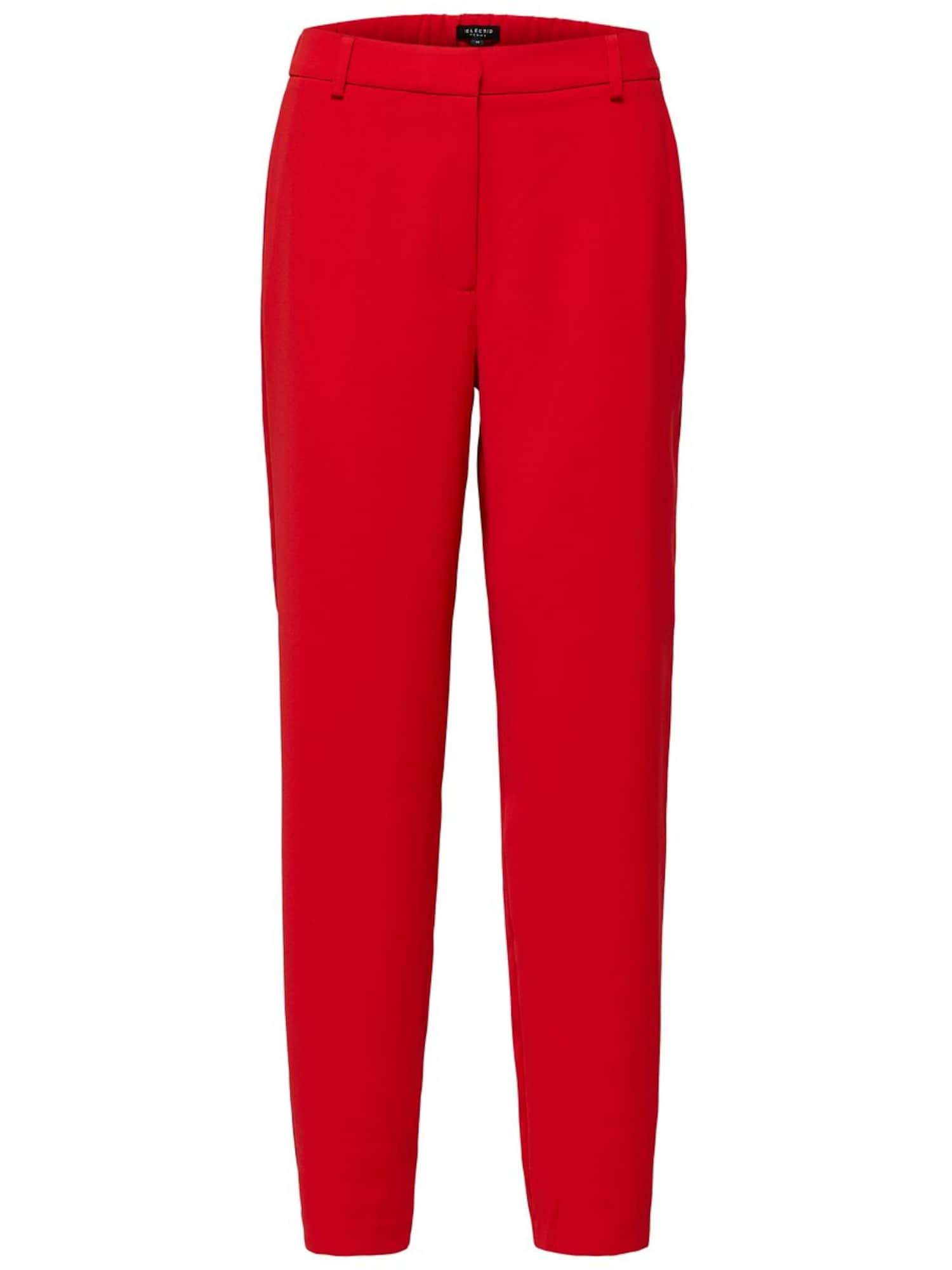 Chino kalhoty světle červená SELECTED FEMME