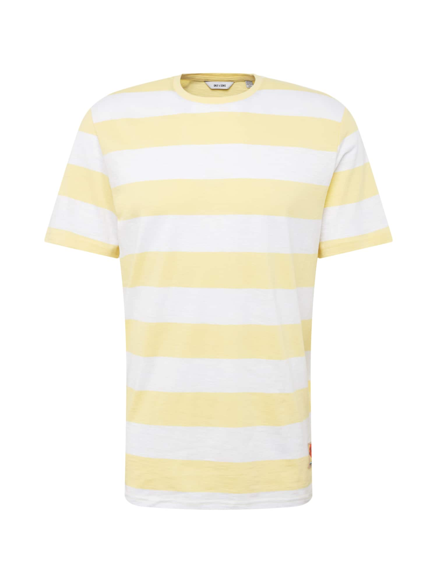Tričko PATTERSON žlutá bílá Only & Sons
