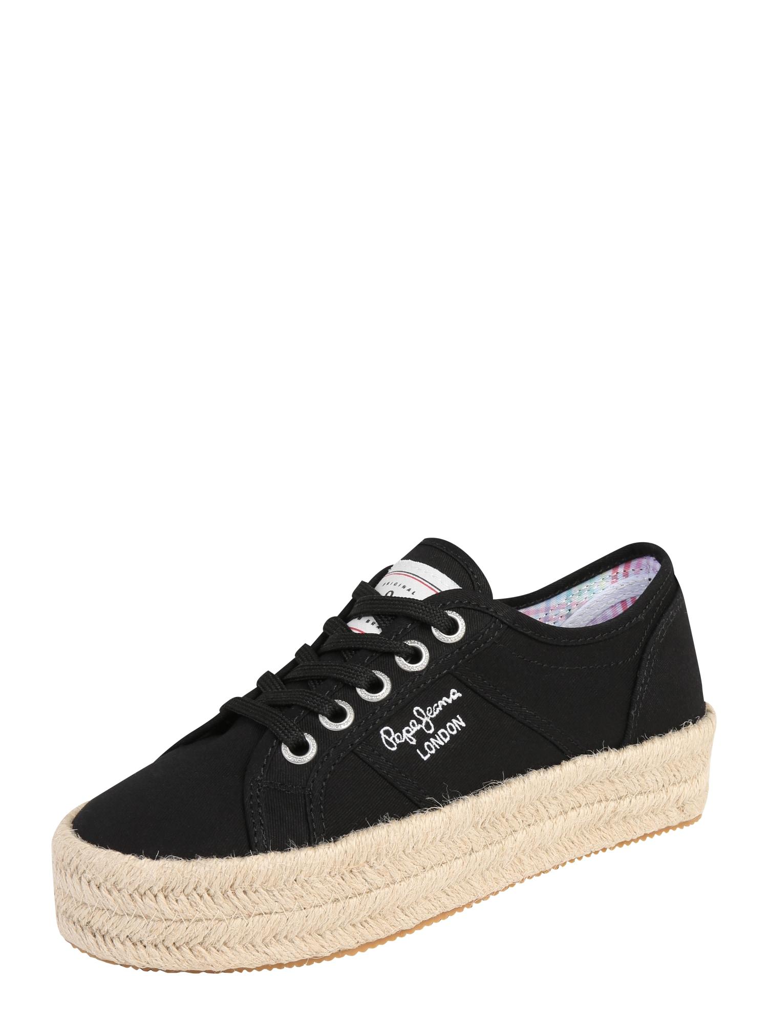 Šněrovací boty černá Pepe Jeans
