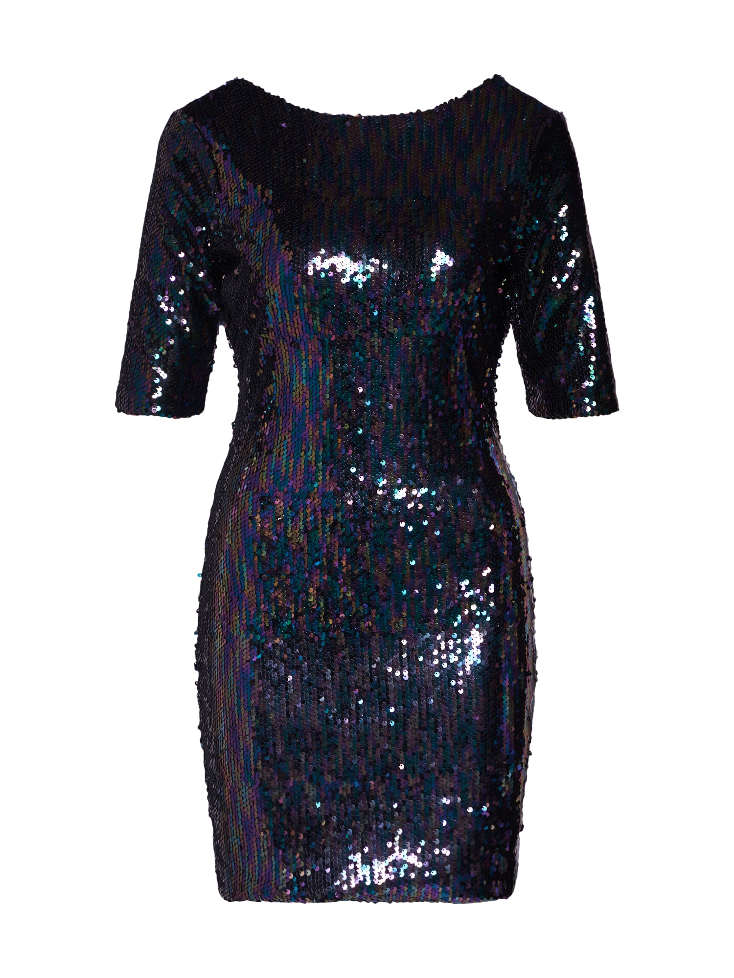Šaty Sequin Mini Dress with Scoop Back modrá Boohoo