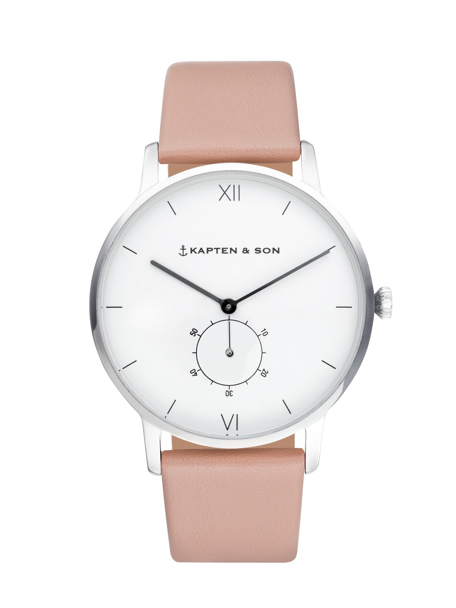 Analogové hodinky Heritage Silver růžová Kapten & Son