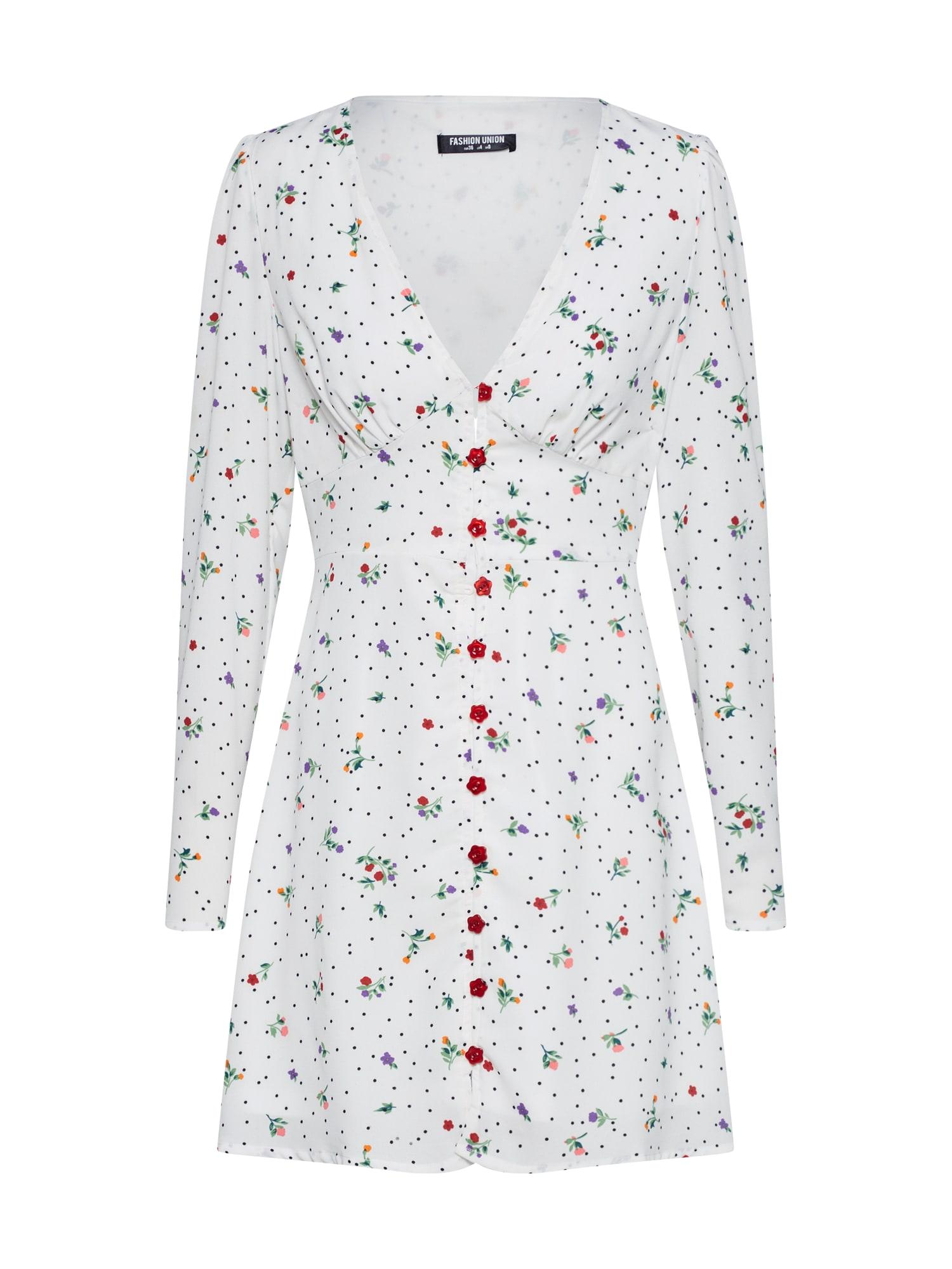 Šaty NONCHALANT modrá bílá Fashion Union