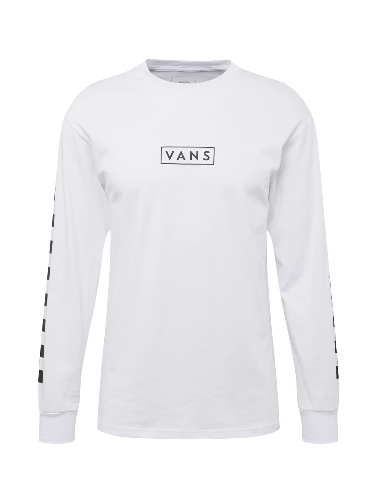 Tričko EASY BOX CHECKER LS černá bílá VANS