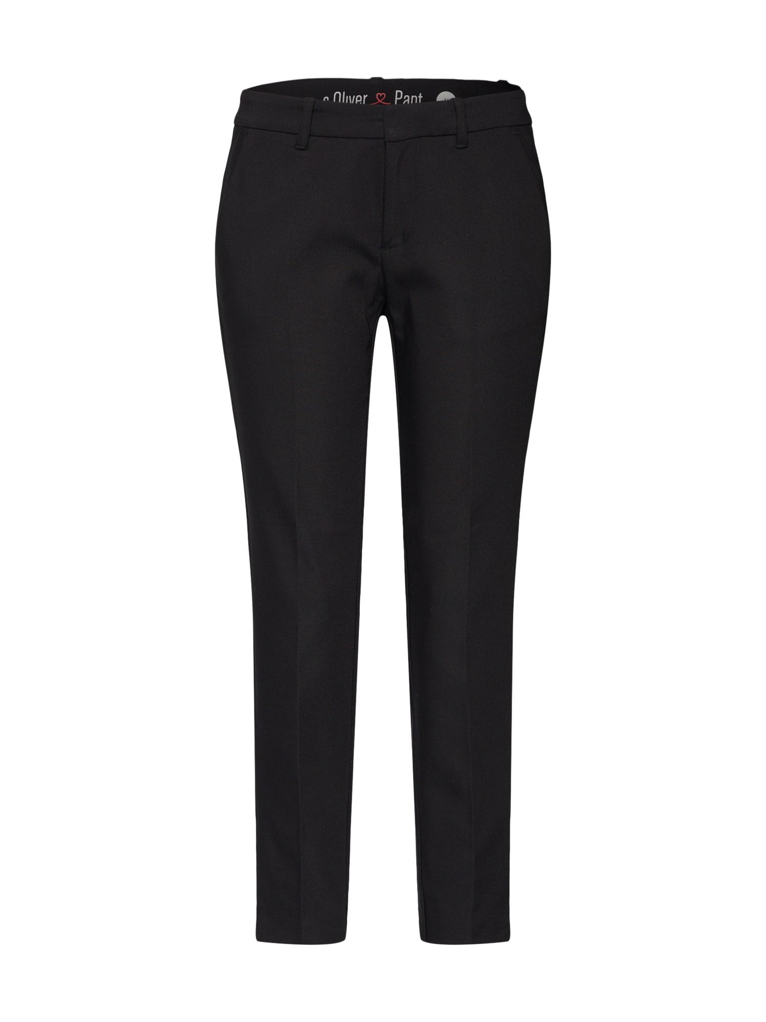 Kalhoty s puky černá S.Oliver RED LABEL