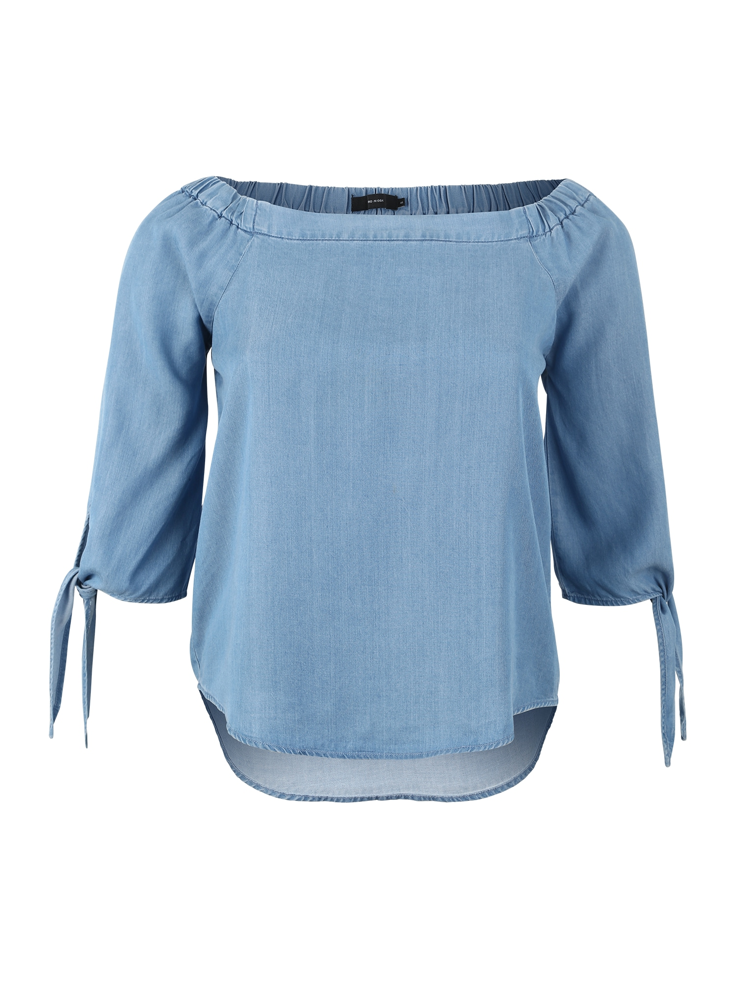 Halenka MIA  modrá džínovina  světlemodrá Vero Moda Curve
