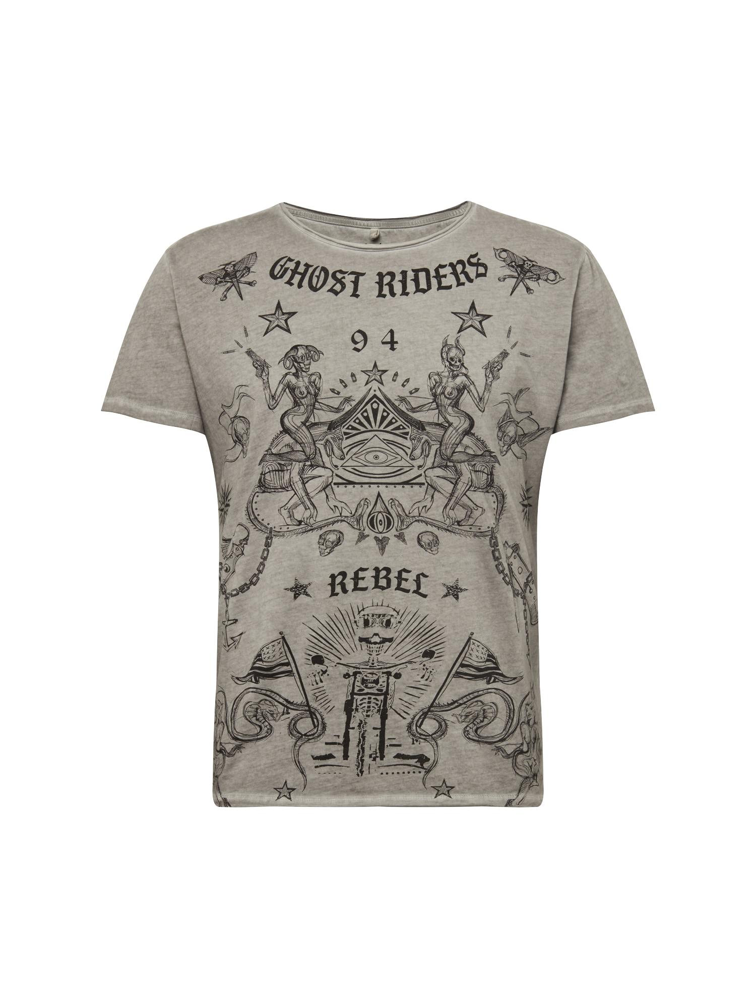 Tričko GHOST stříbrně šedá mix barev Key Largo