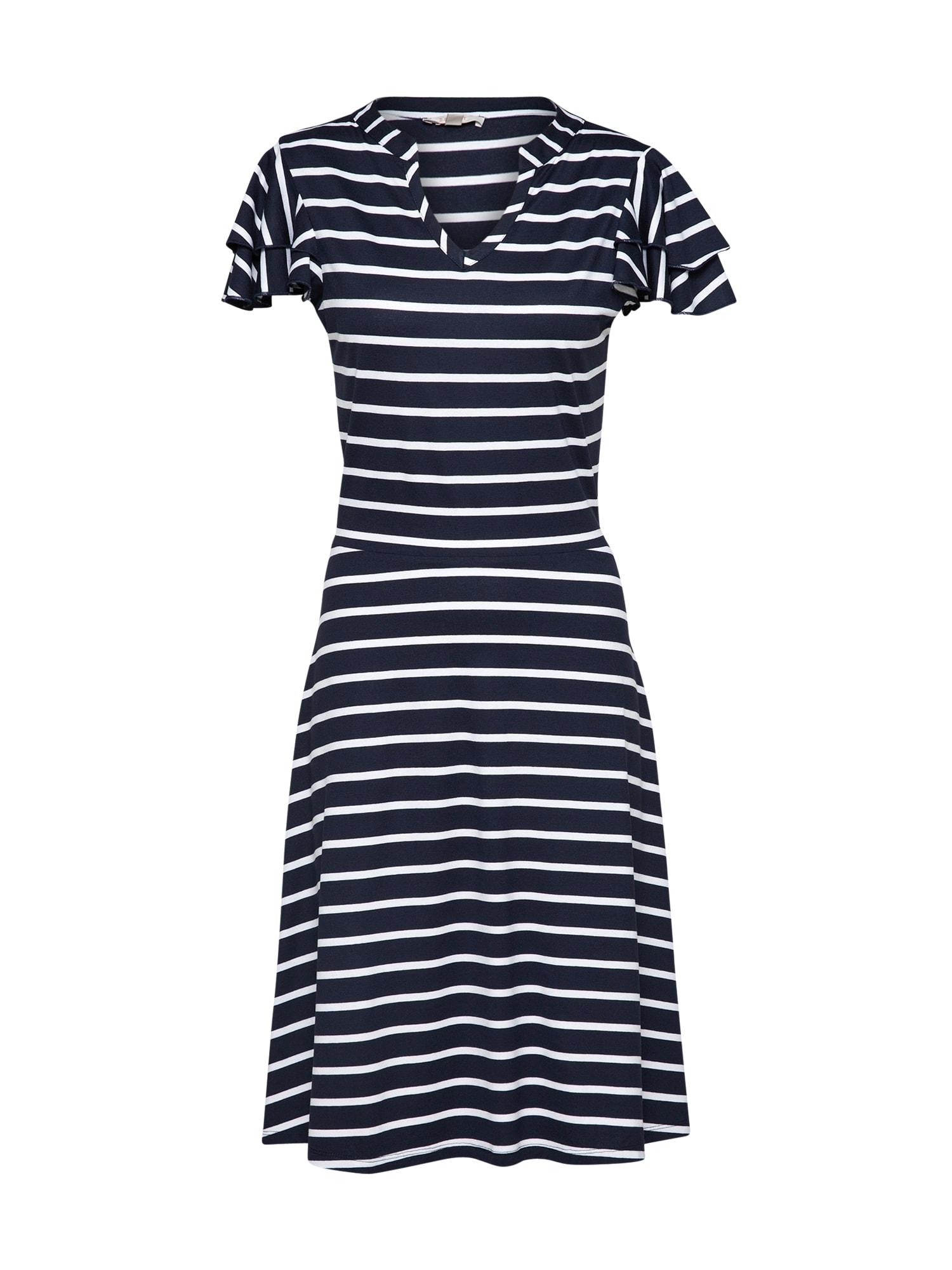 Šaty námořnická modř bílá ESPRIT