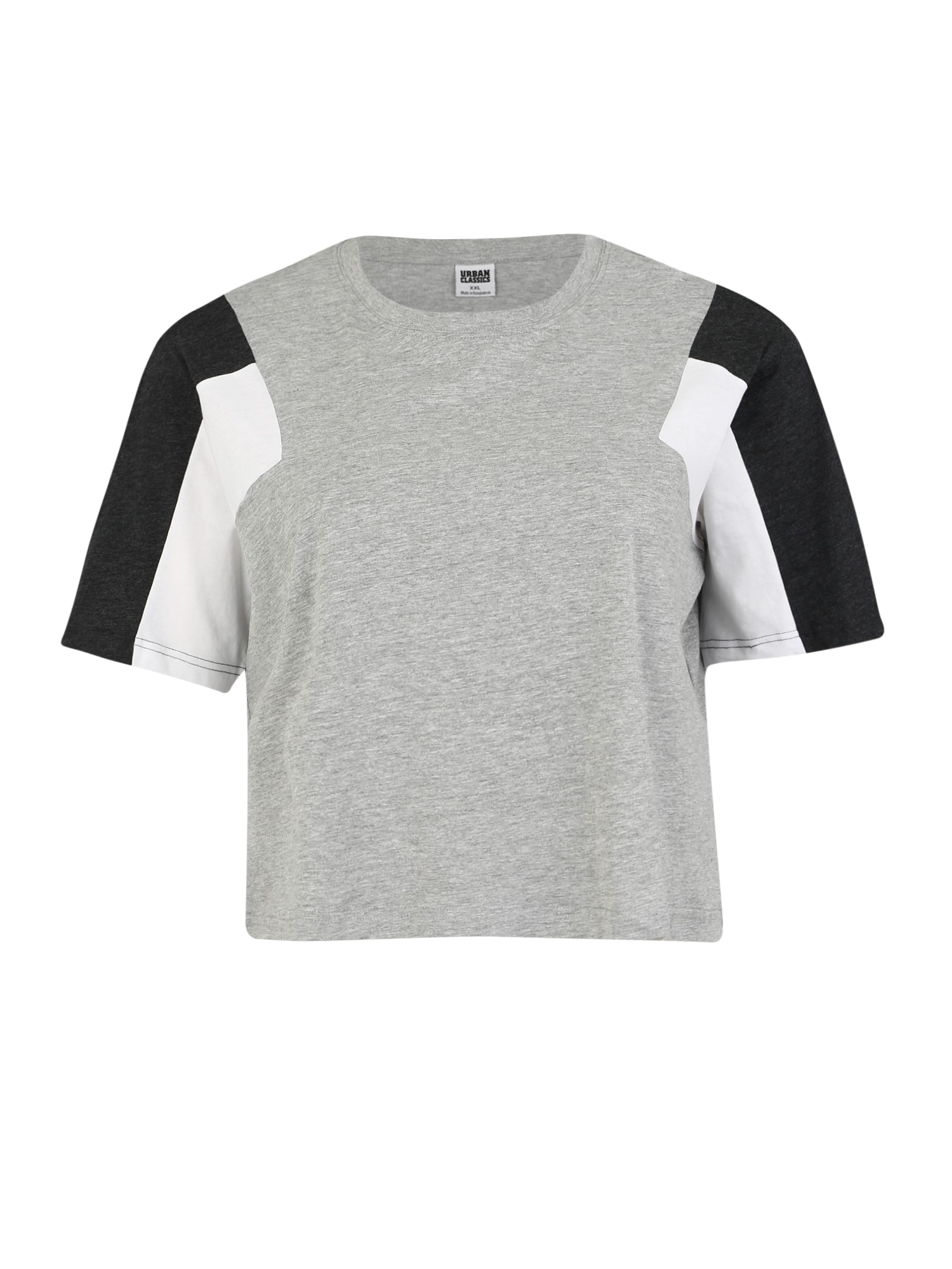Tričko šedá černá bílá Urban Classics Curvy