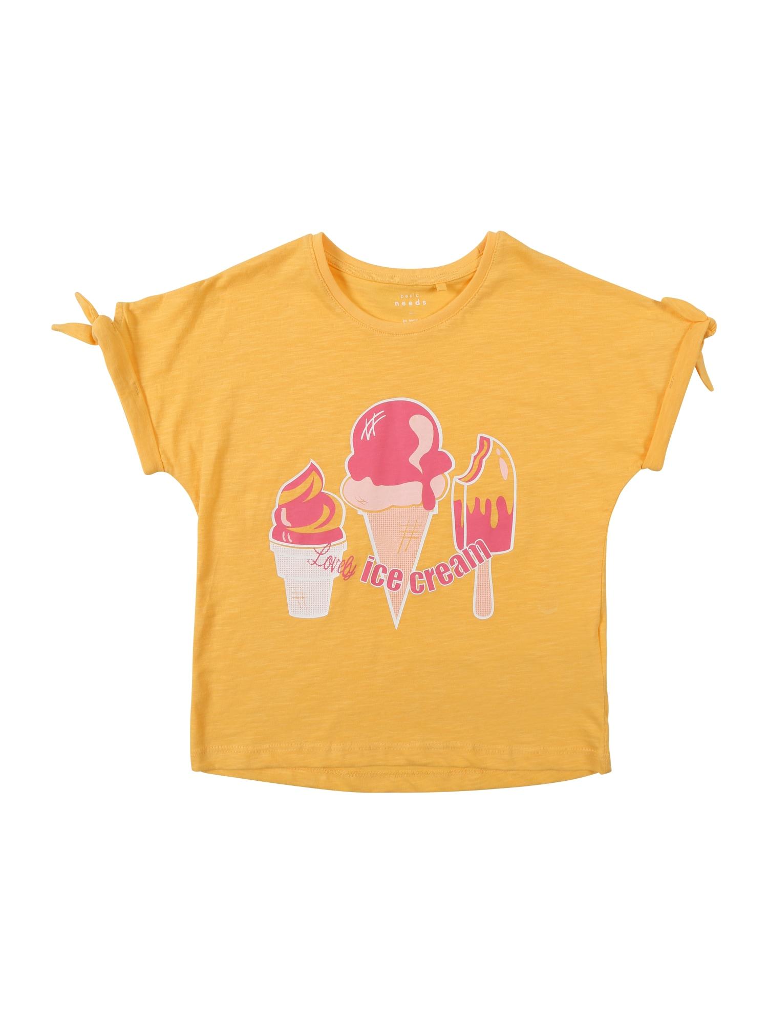 Tričko VEET žlutá pink bílá NAME IT