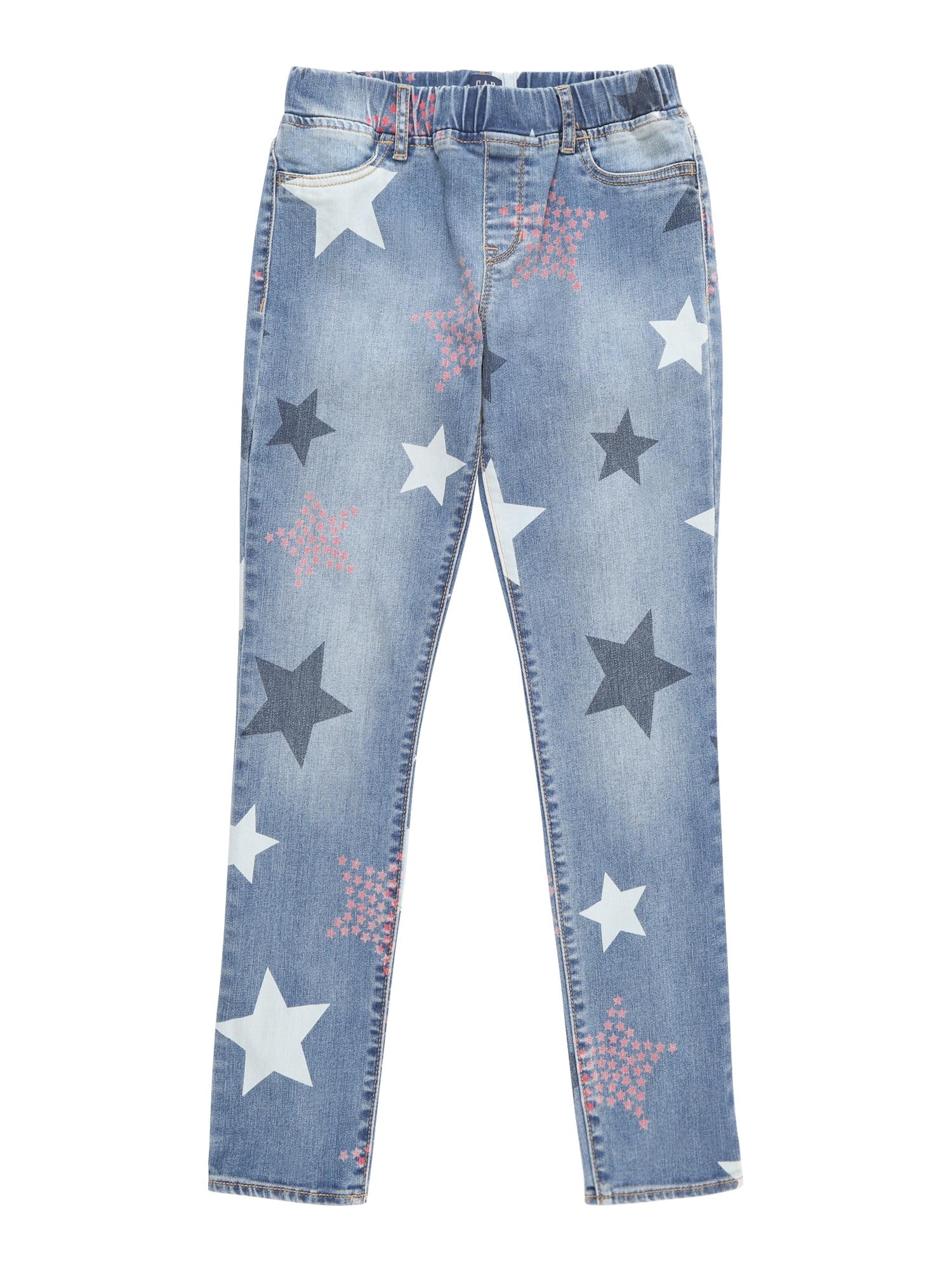 Džíny STAR PRNT JEG modrá GAP