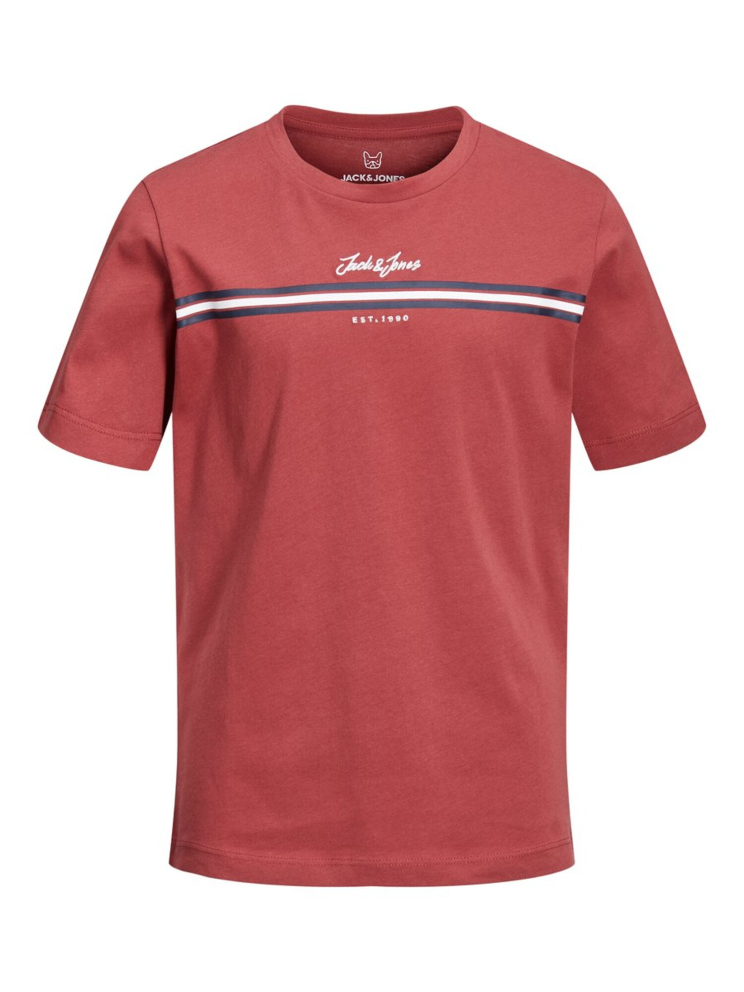 Tričko DAVIS červená černá bílá Jack & Jones Junior