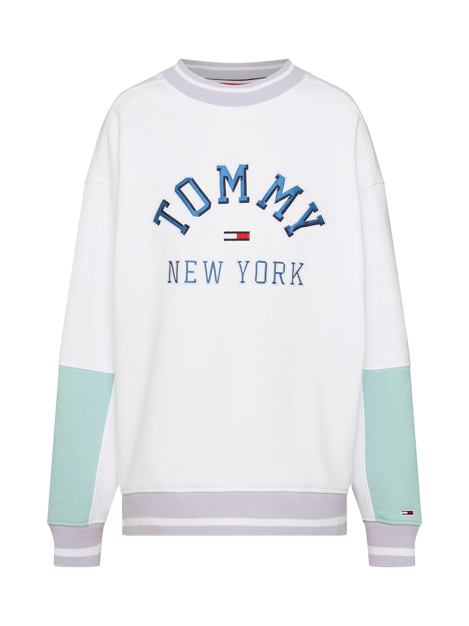 Mikina mátová šeříková bílá Tommy Jeans