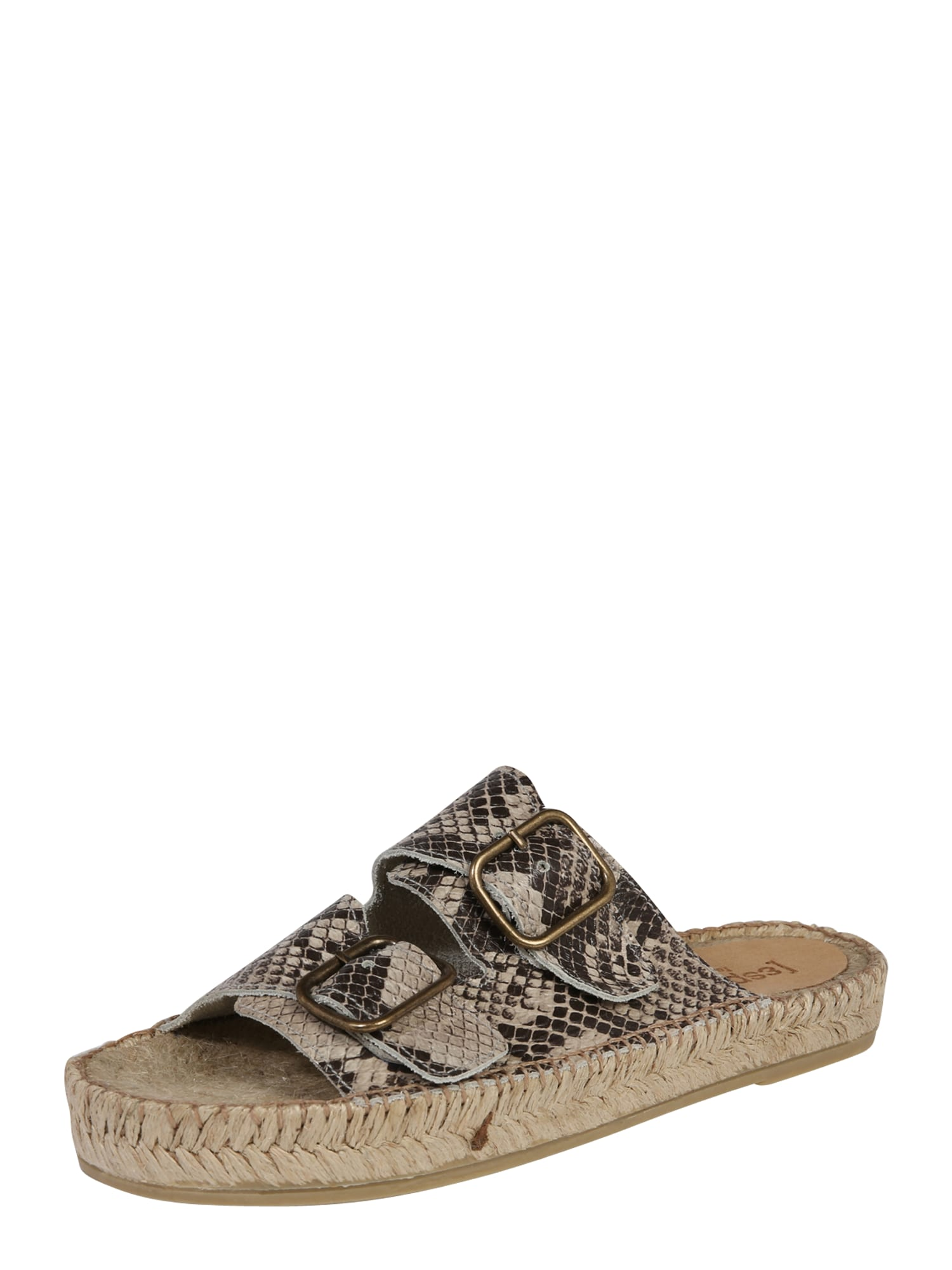 Pantofle Claquette Print béžová Espadrij L´originale