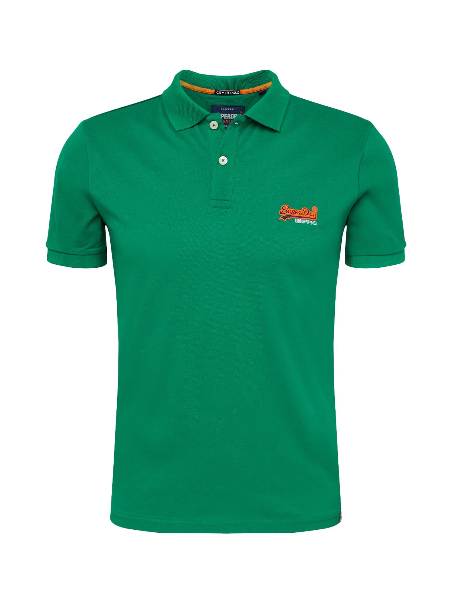 Tričko MERCERISED LITE CITY zelená oranžová bílá Superdry