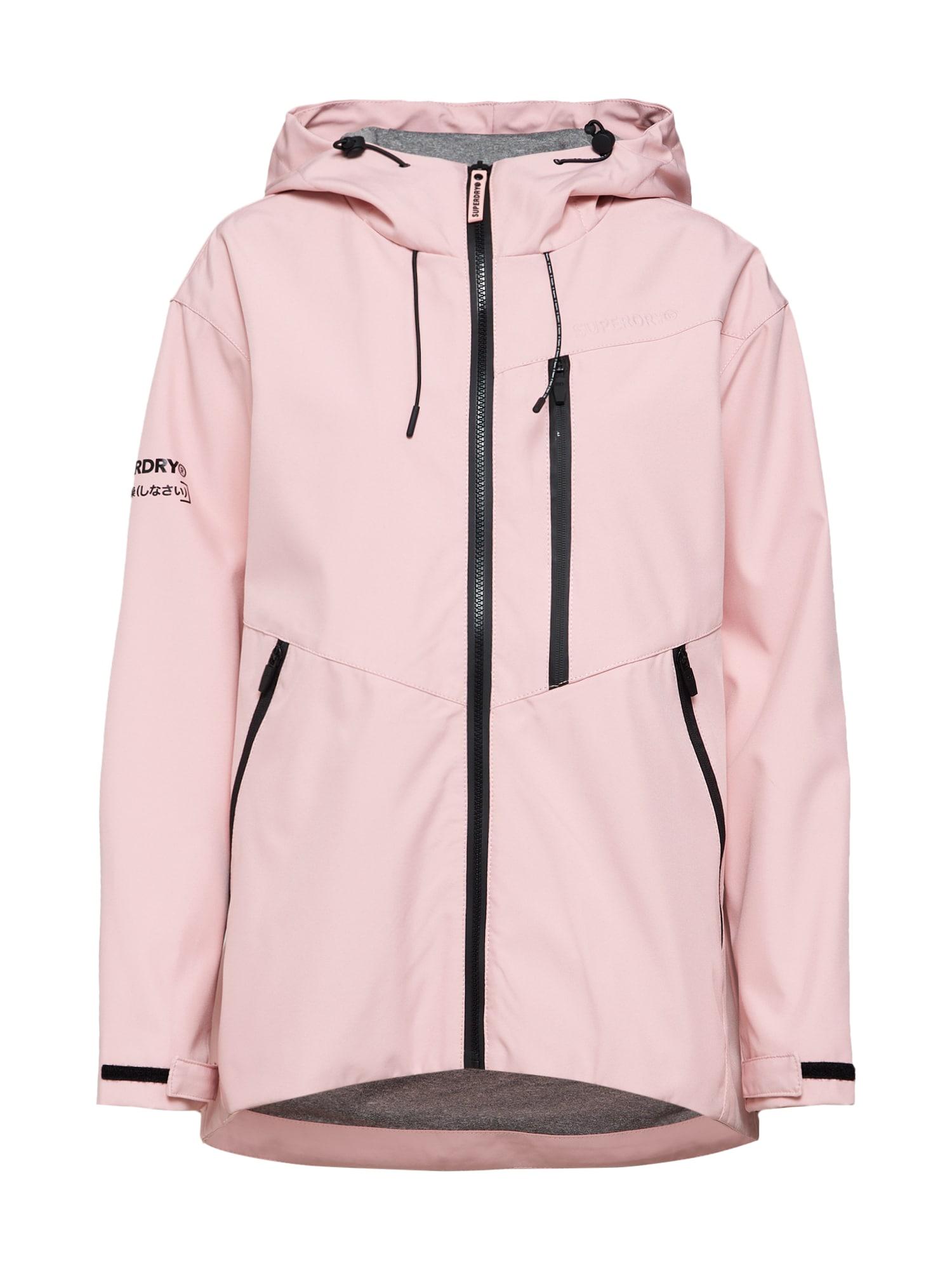Přechodná bunda růžová Superdry