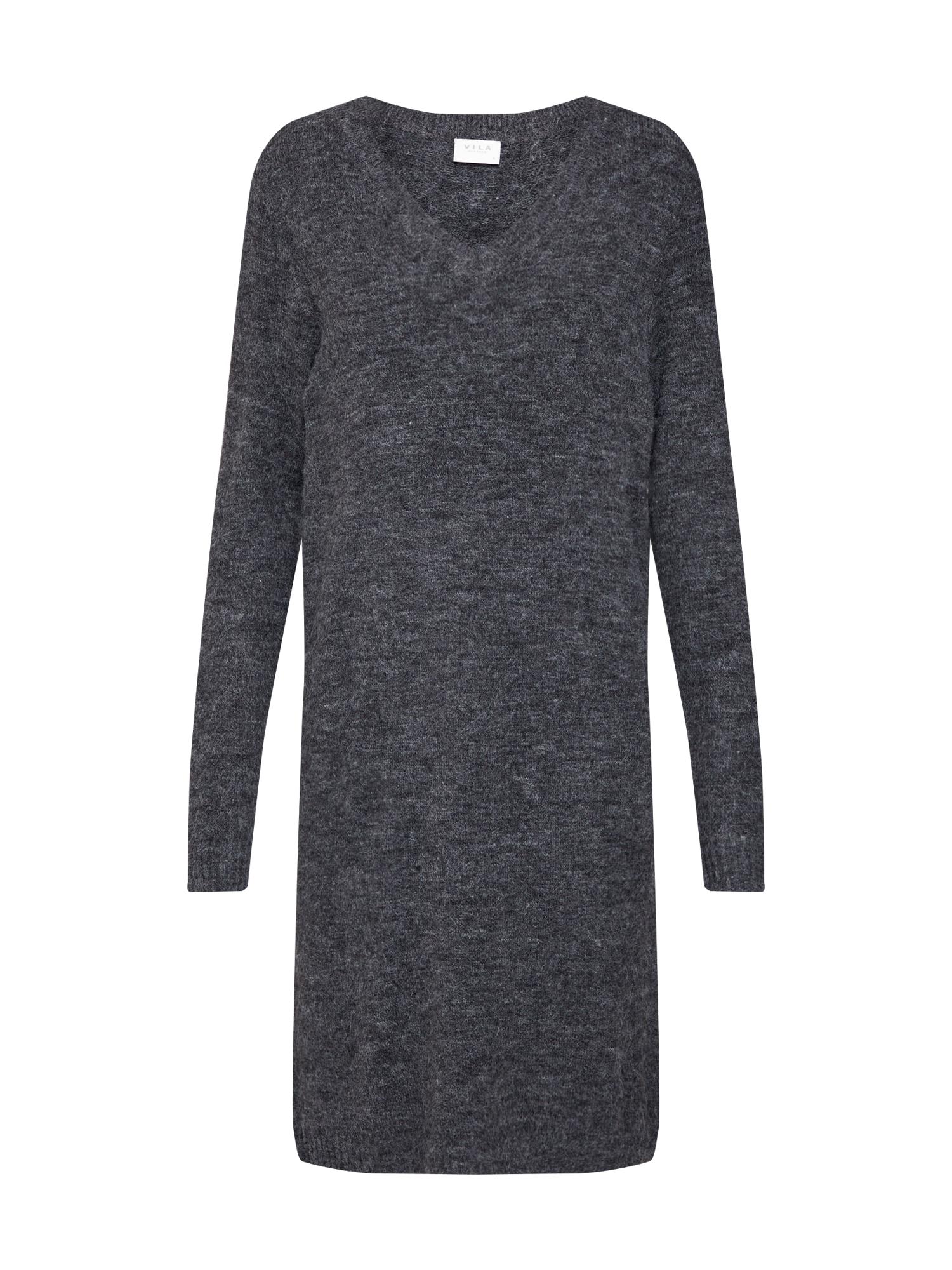 Šaty tmavě šedá VILA