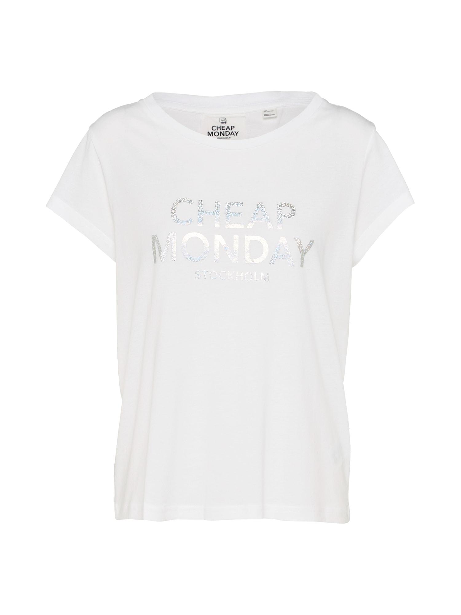 CHEAP MONDAY Dames Shirt Have tee Foil logo wit
