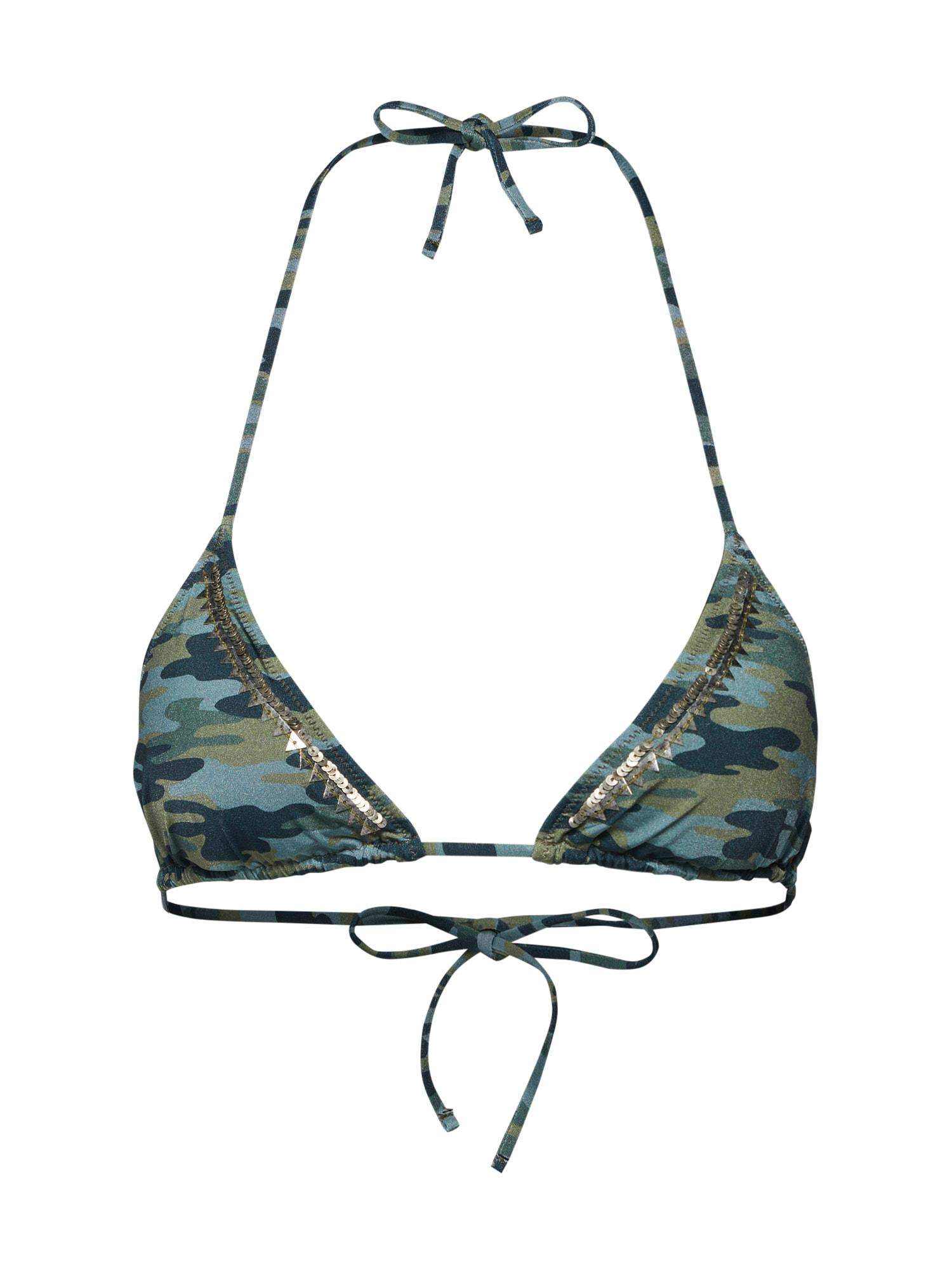 Horní díl plavek bikini top zelená Watercult