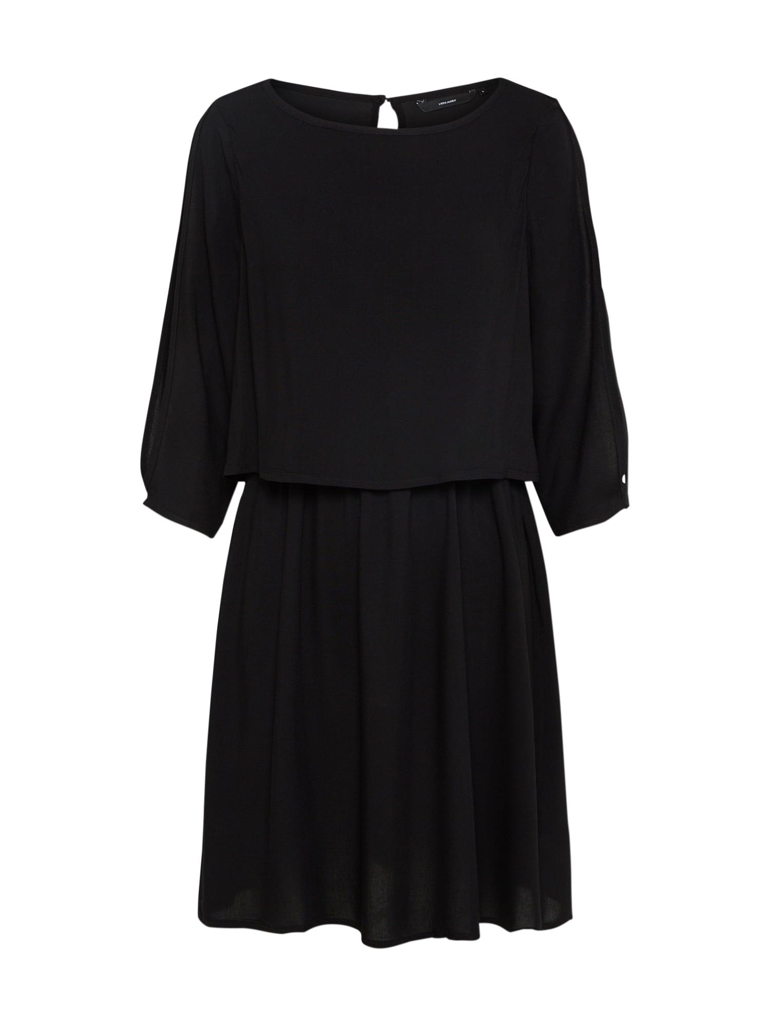 Košilové šaty VMBOCA černá VERO MODA