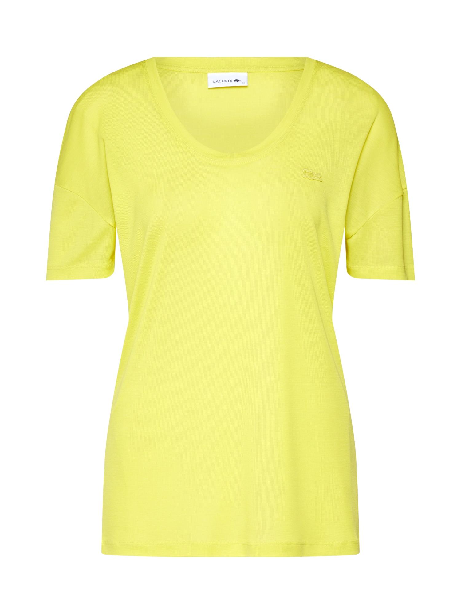 Tričko TEE-SHIRT žlutá LACOSTE