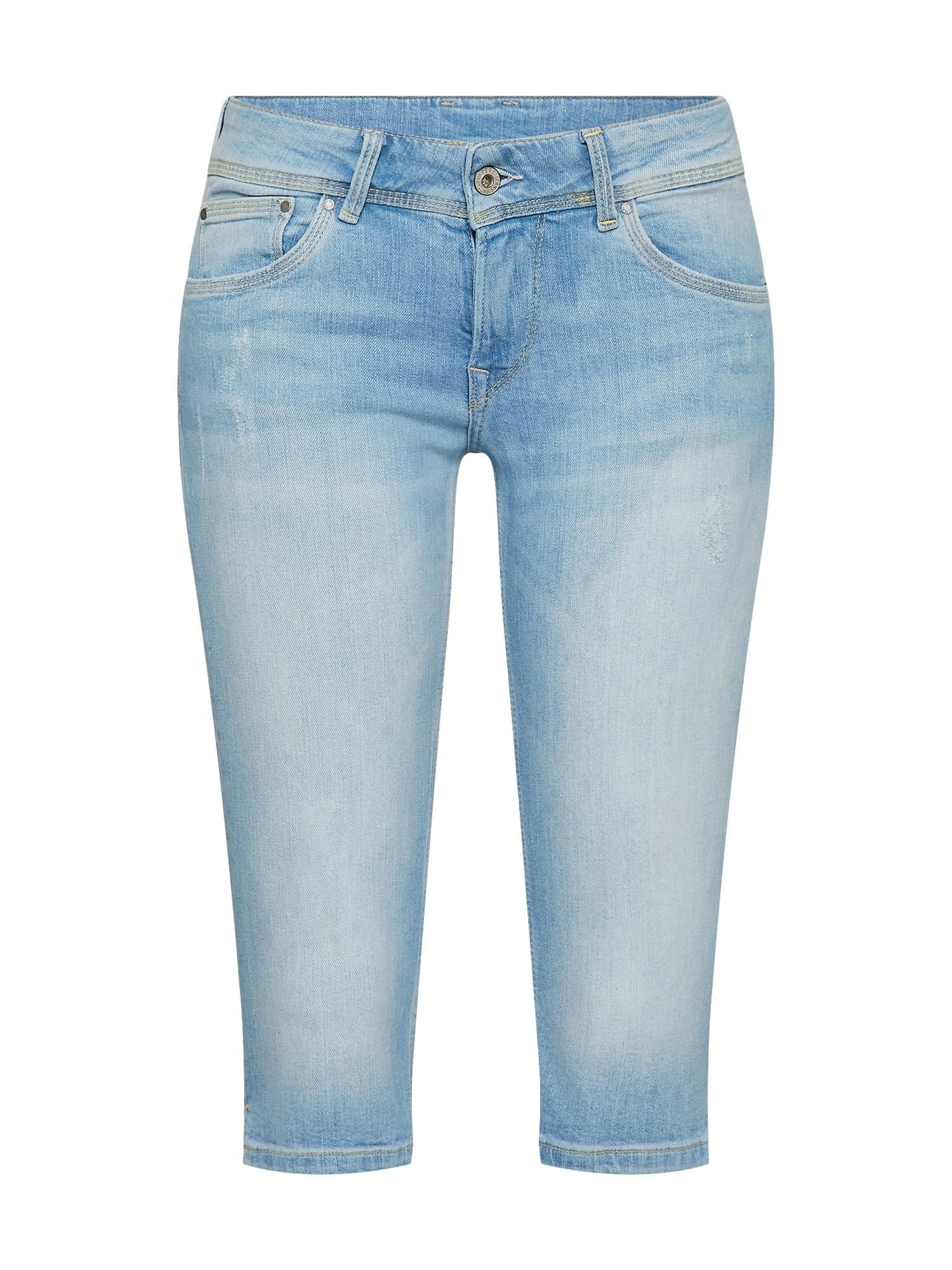 Pepe Jeans Dames Jeans SATURN CROP lichtblauw