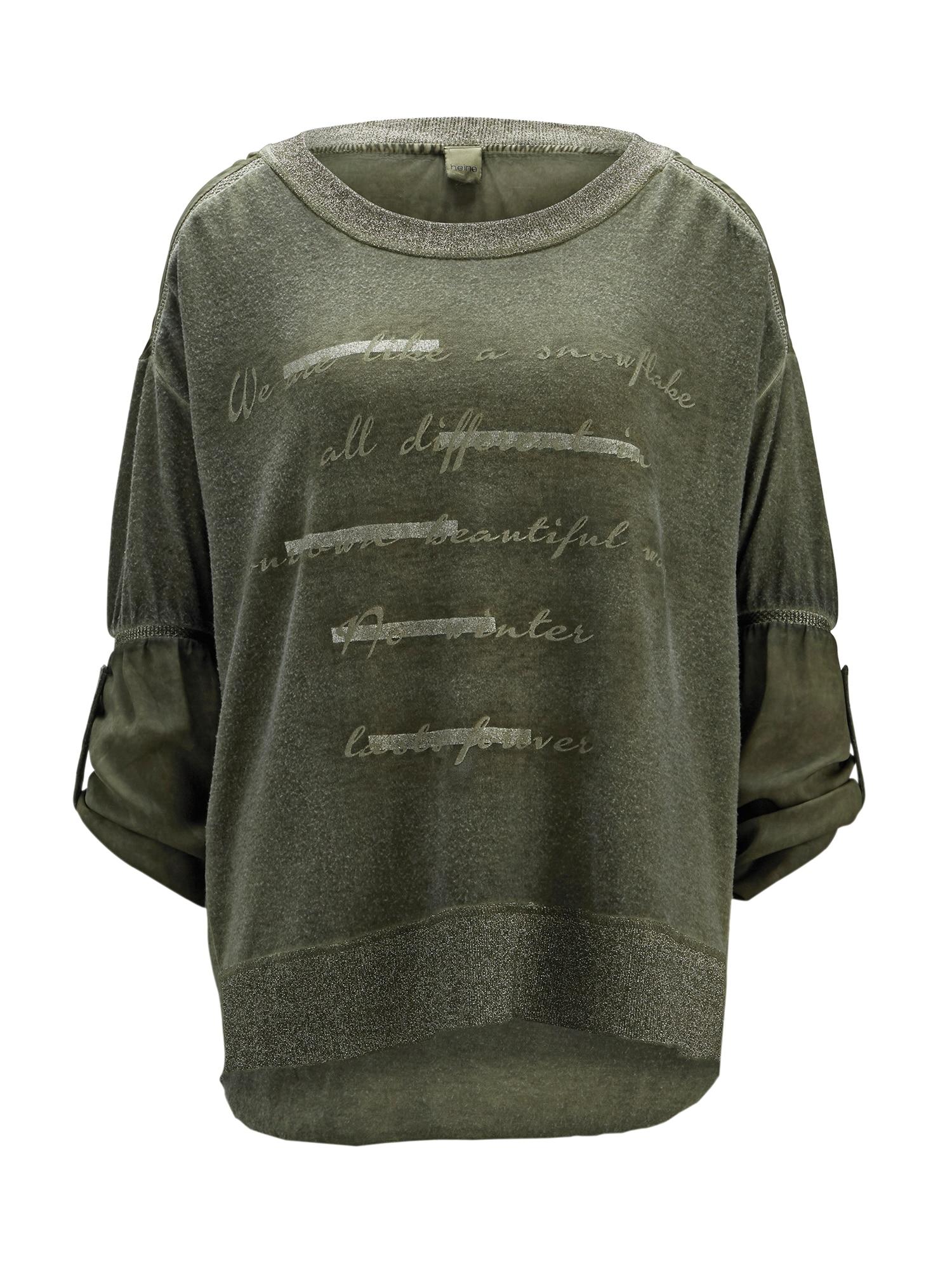 Tričko olivová Heine