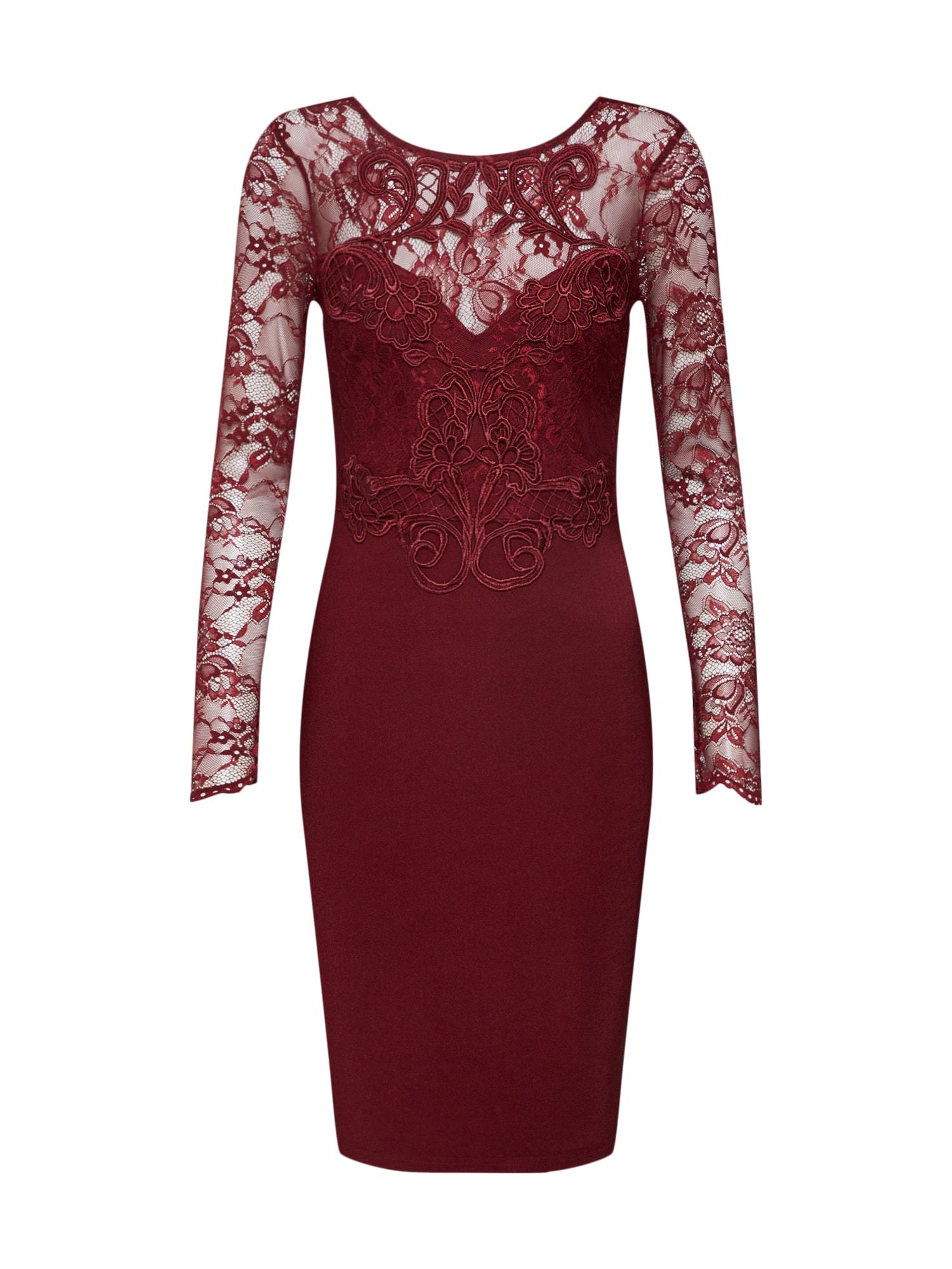 Koktejlové šaty brusinková Lipsy