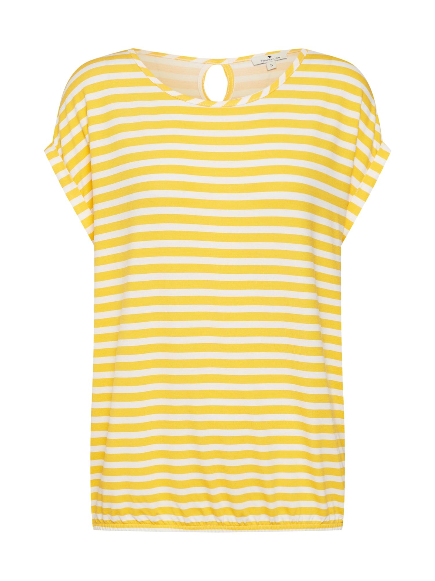 Tričko žlutá bílá TOM TAILOR