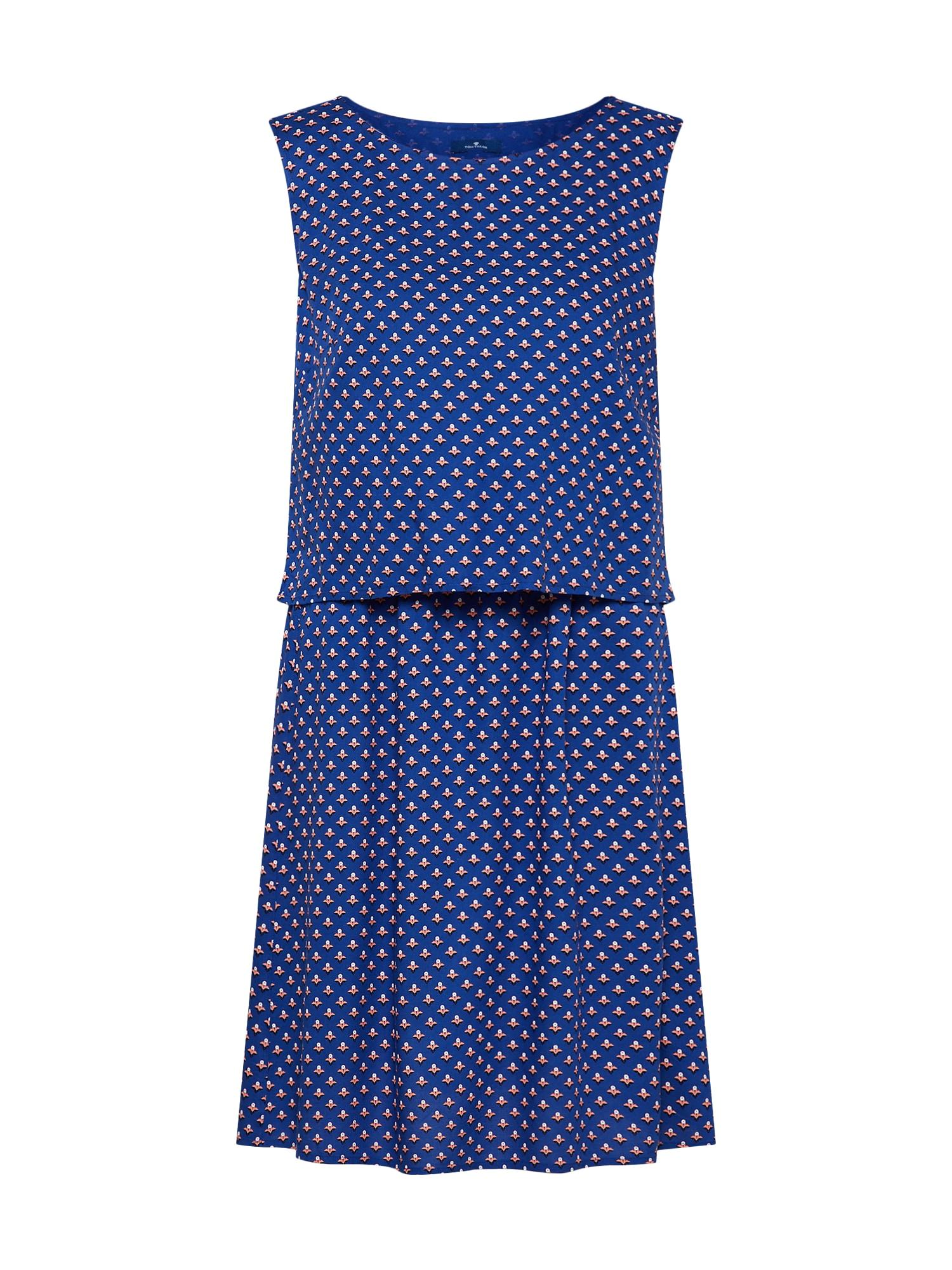 Šaty modrá růžová černá bílá TOM TAILOR