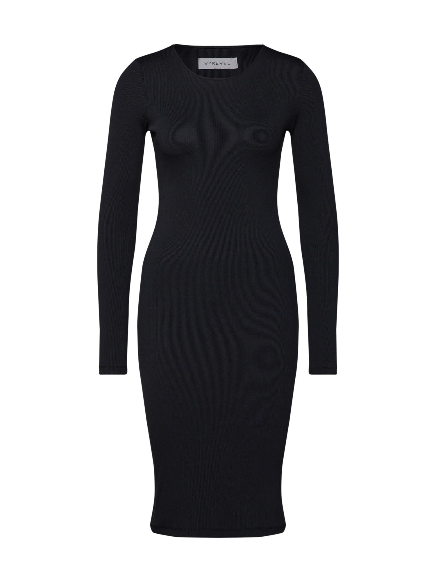 Šaty ALIANA černá IVYREVEL