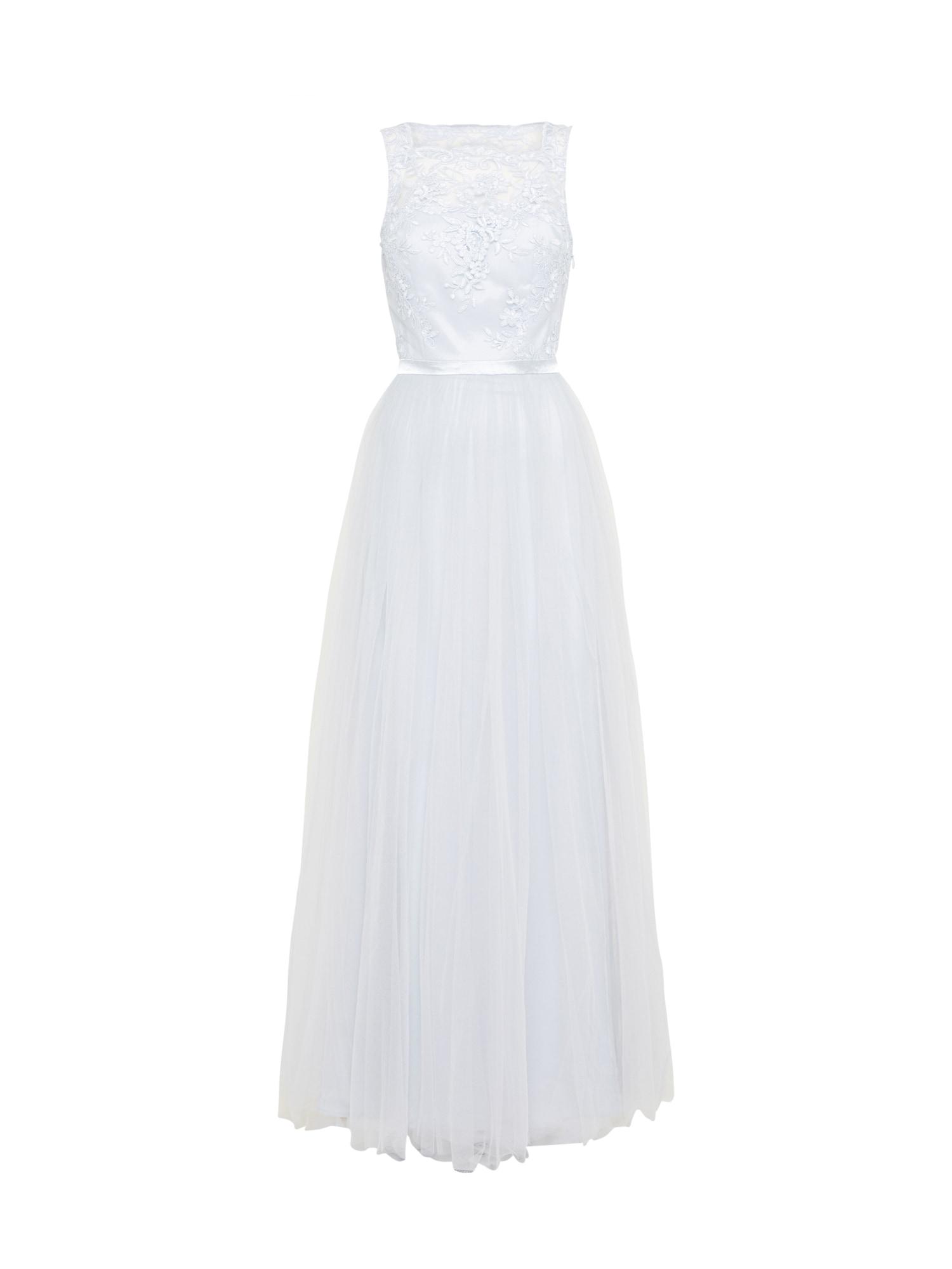 Společenské šaty světle šedá offwhite Chi Chi London
