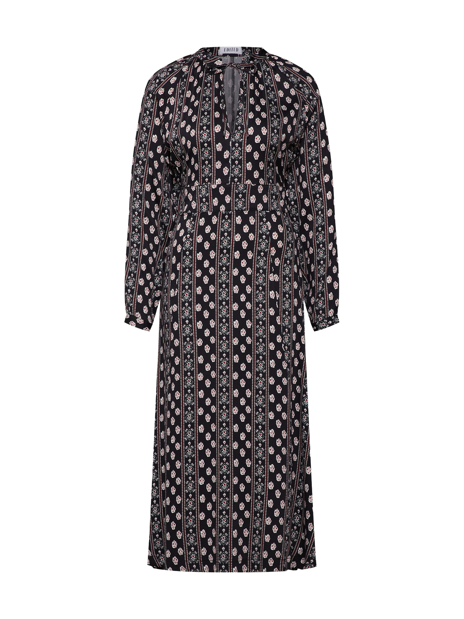 Šaty Cailin krémová bordó černá EDITED
