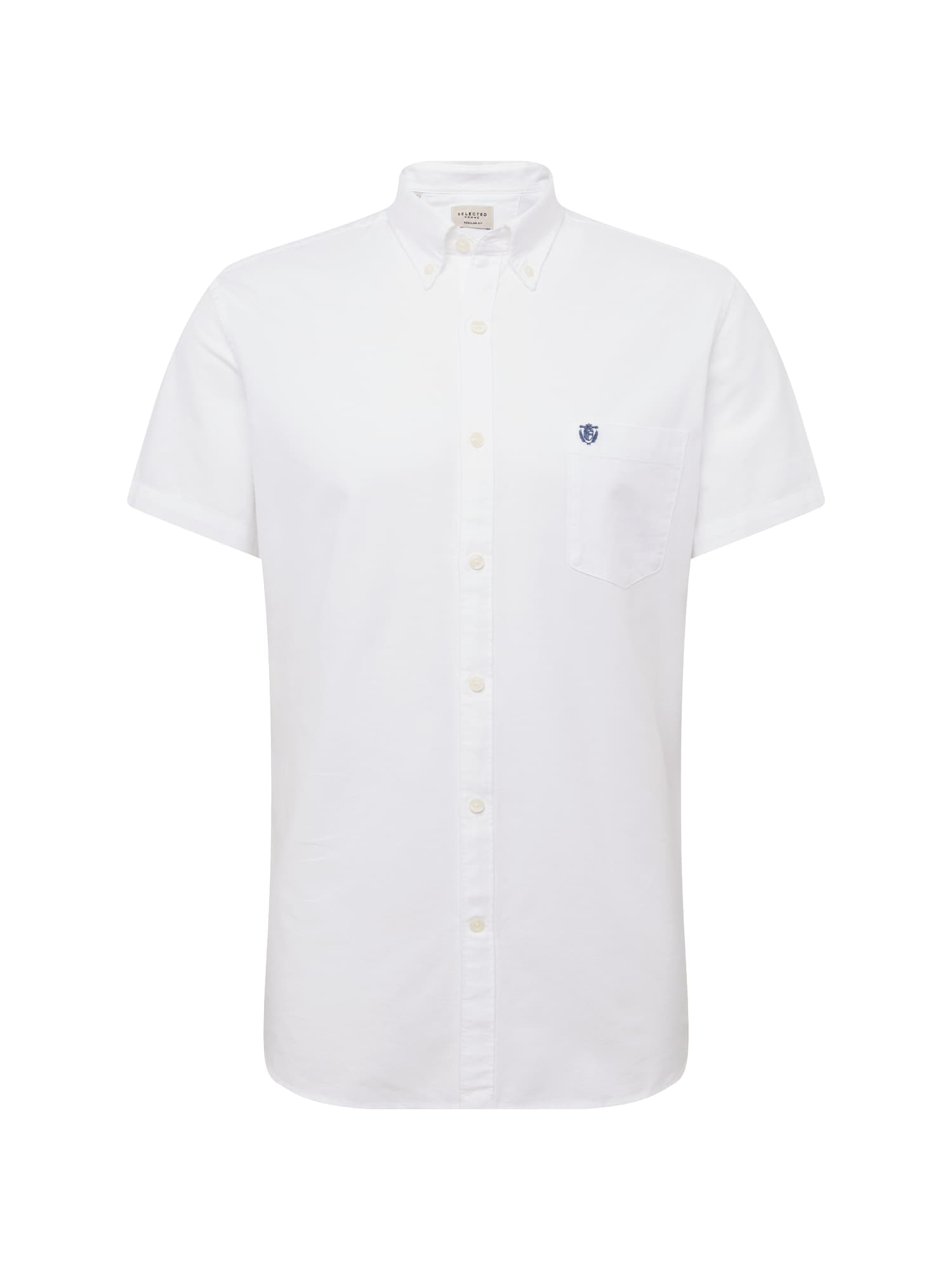 Košile SLHREGCOLLECT SHIRT SS W NOOS bílá SELECTED HOMME