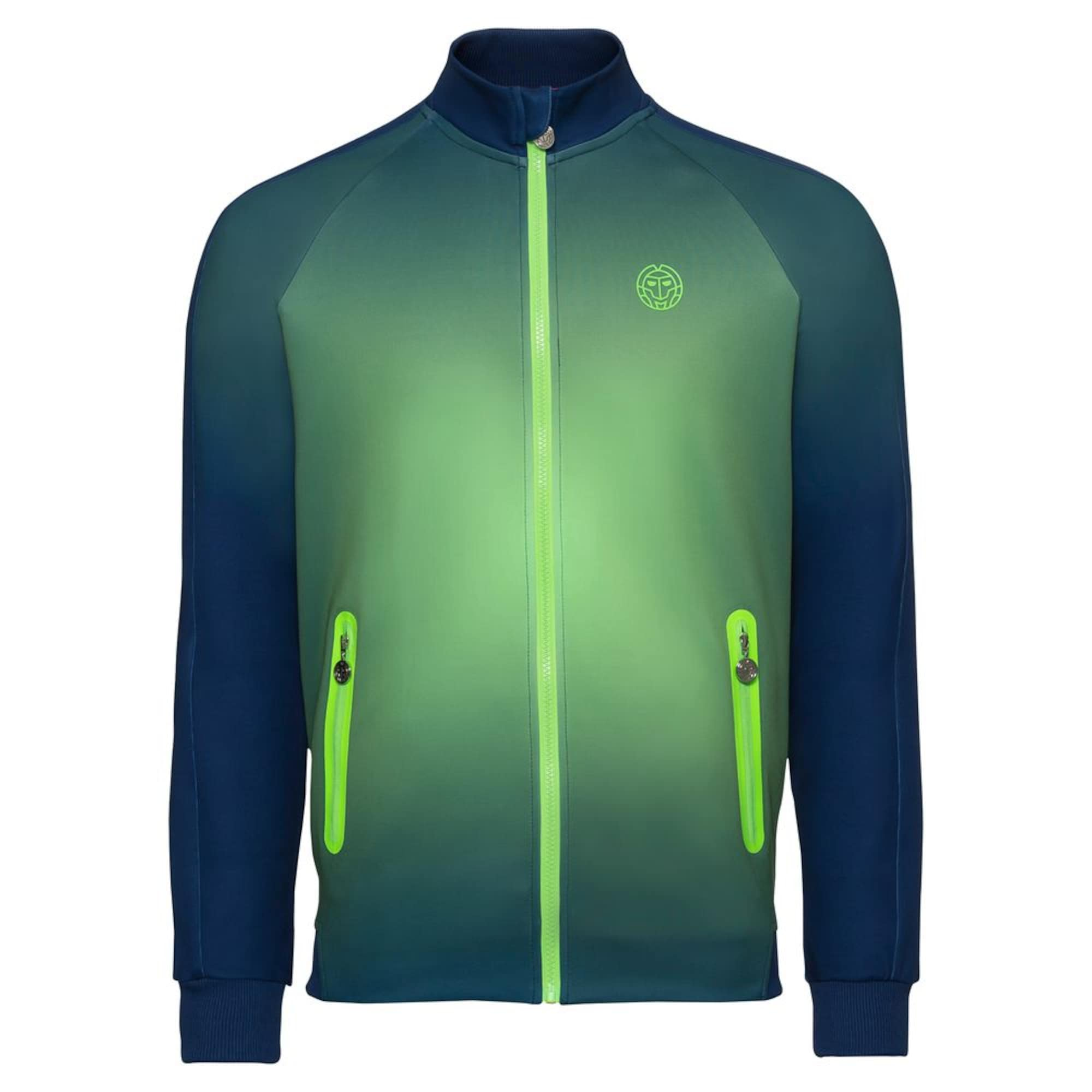 Trainingsjacke Aton Tech mit Stehkragen   Sportbekleidung > Sportjacken > Trainingsjacken   Blau - Grün   BIDI BADU