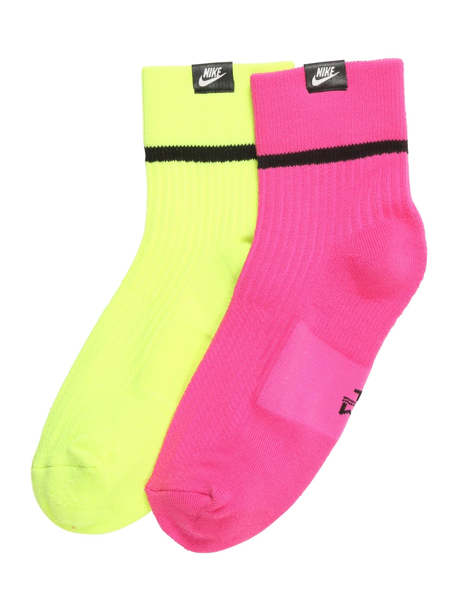Ponožky světle žlutá pink Nike Sportswear