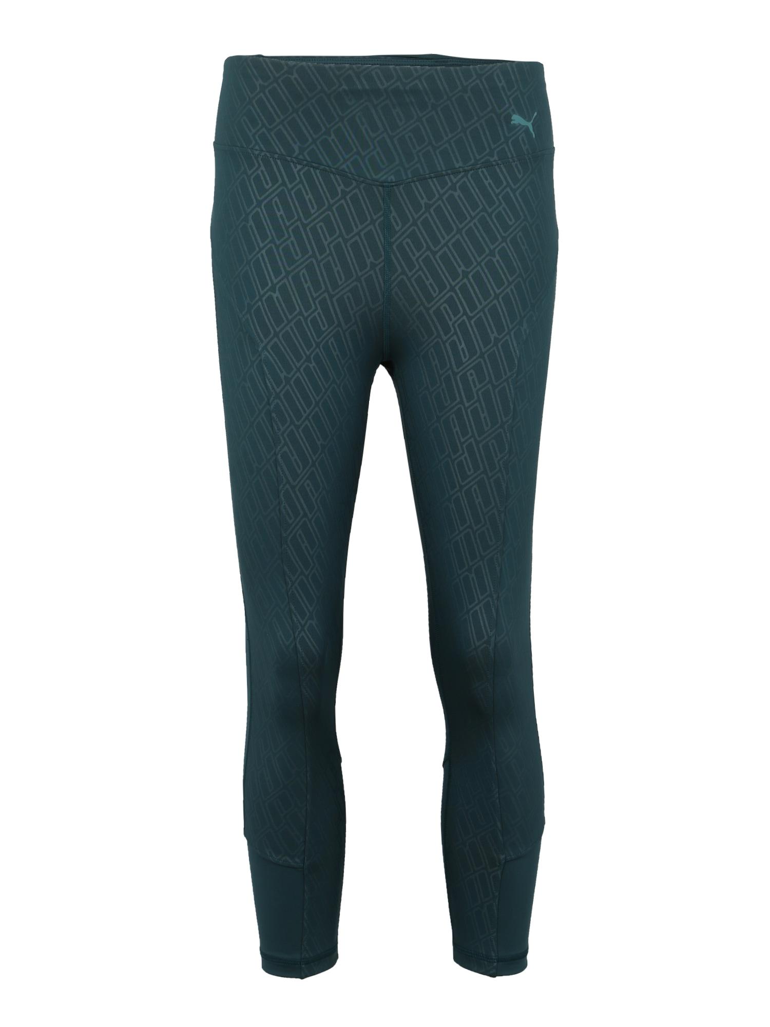 Sportovní kalhoty Bold Graphic tmavě zelená PUMA